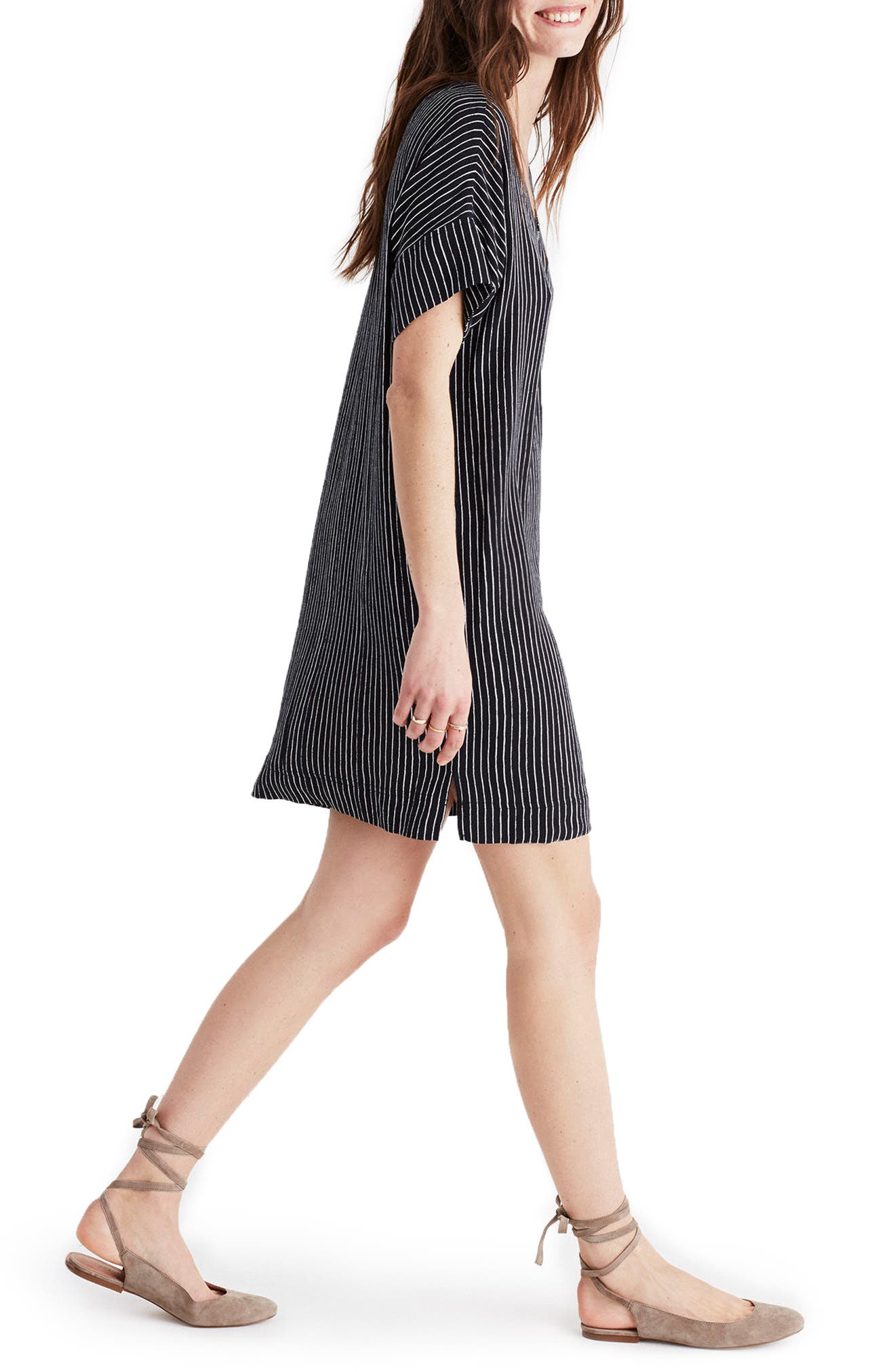 Alternate Image 3  - Madewell Novel Chalkboard Stripe Dress