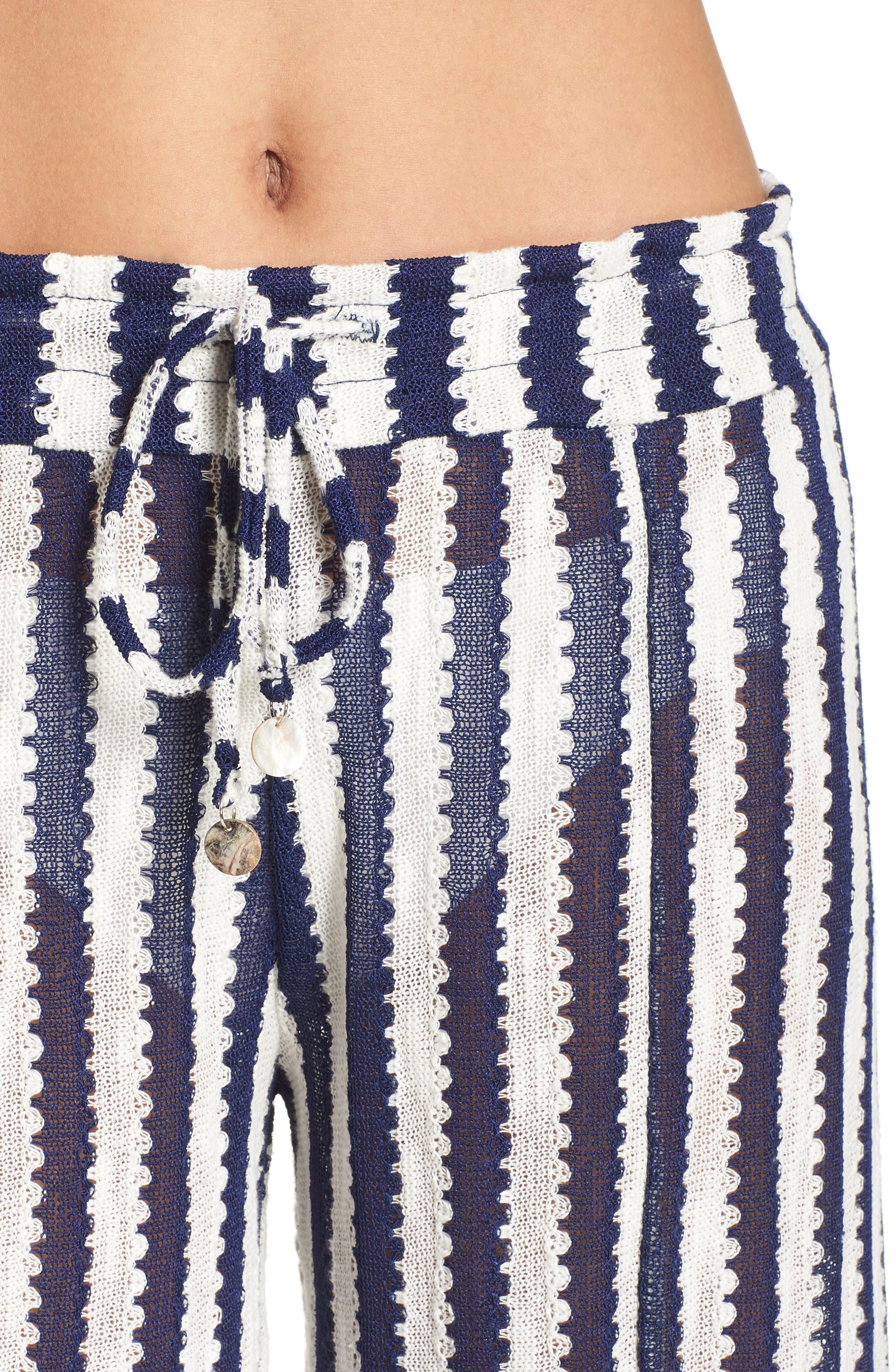 Alternate Image 4  - Isabella Rose Ships Ahoy Cover-Up Pants