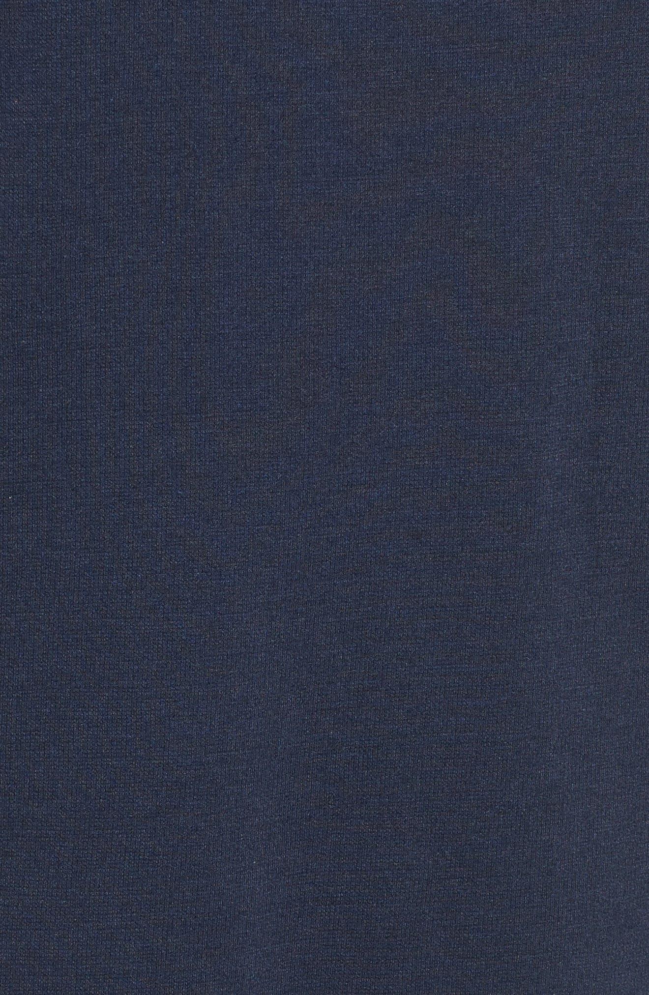 Ruffle Sleeve Shift Dress,                             Alternate thumbnail 5, color,                             Navy