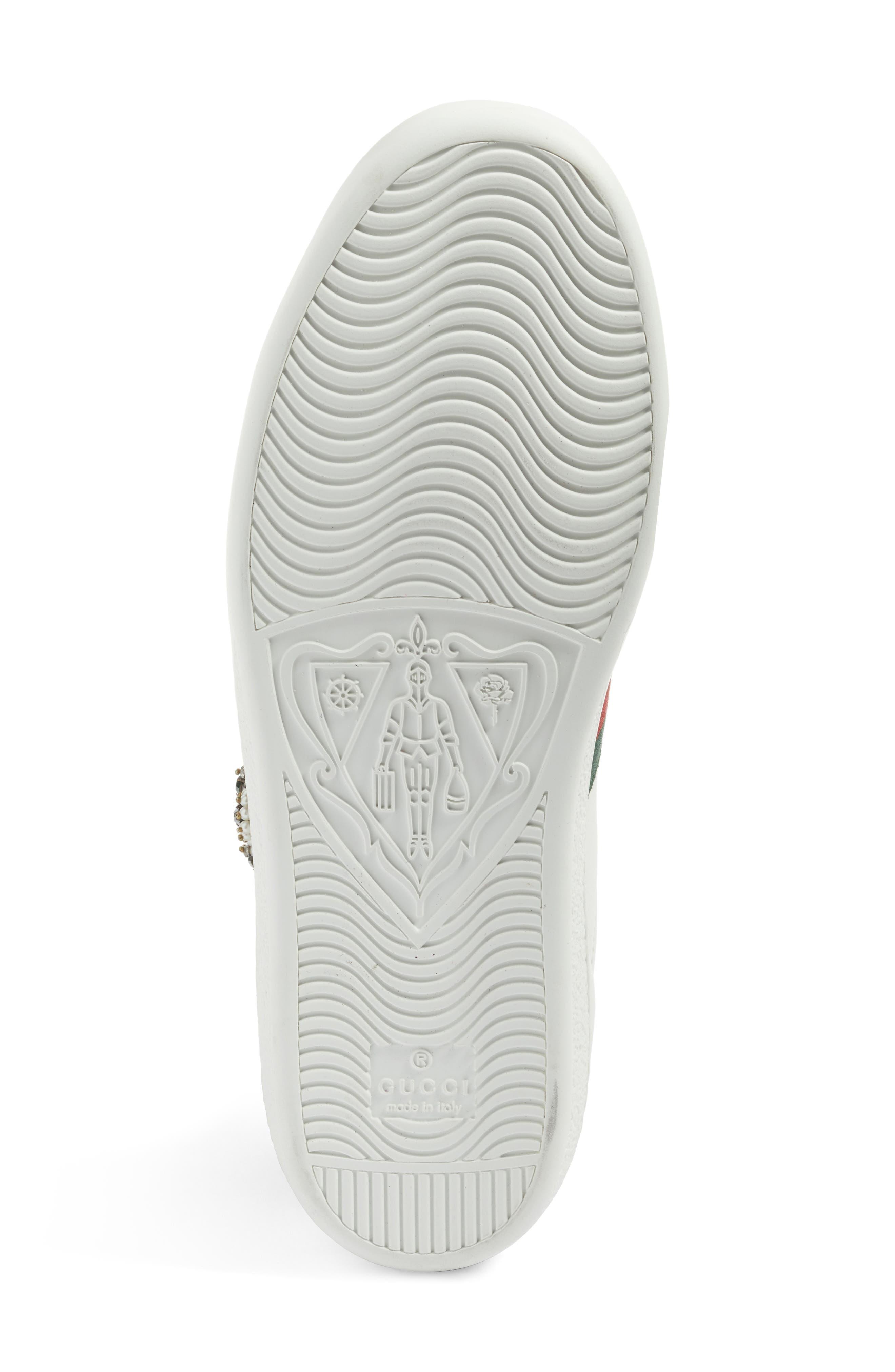New Ace Pierced Heart Sneaker,                             Alternate thumbnail 6, color,                             White Multi