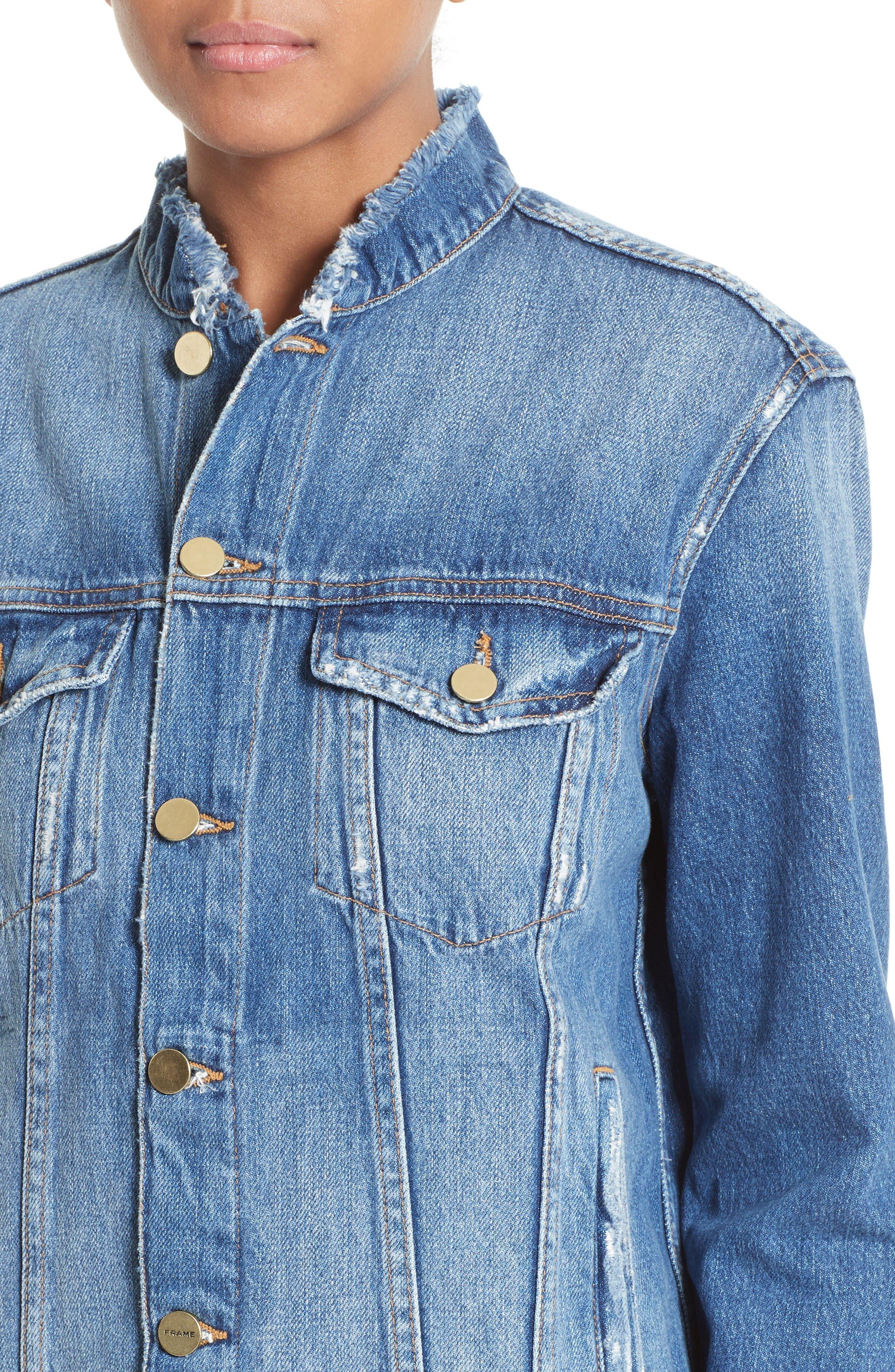 Alternate Image 4  - FRAME Le Fray Denim Jacket (Nordstrom Exclusive)