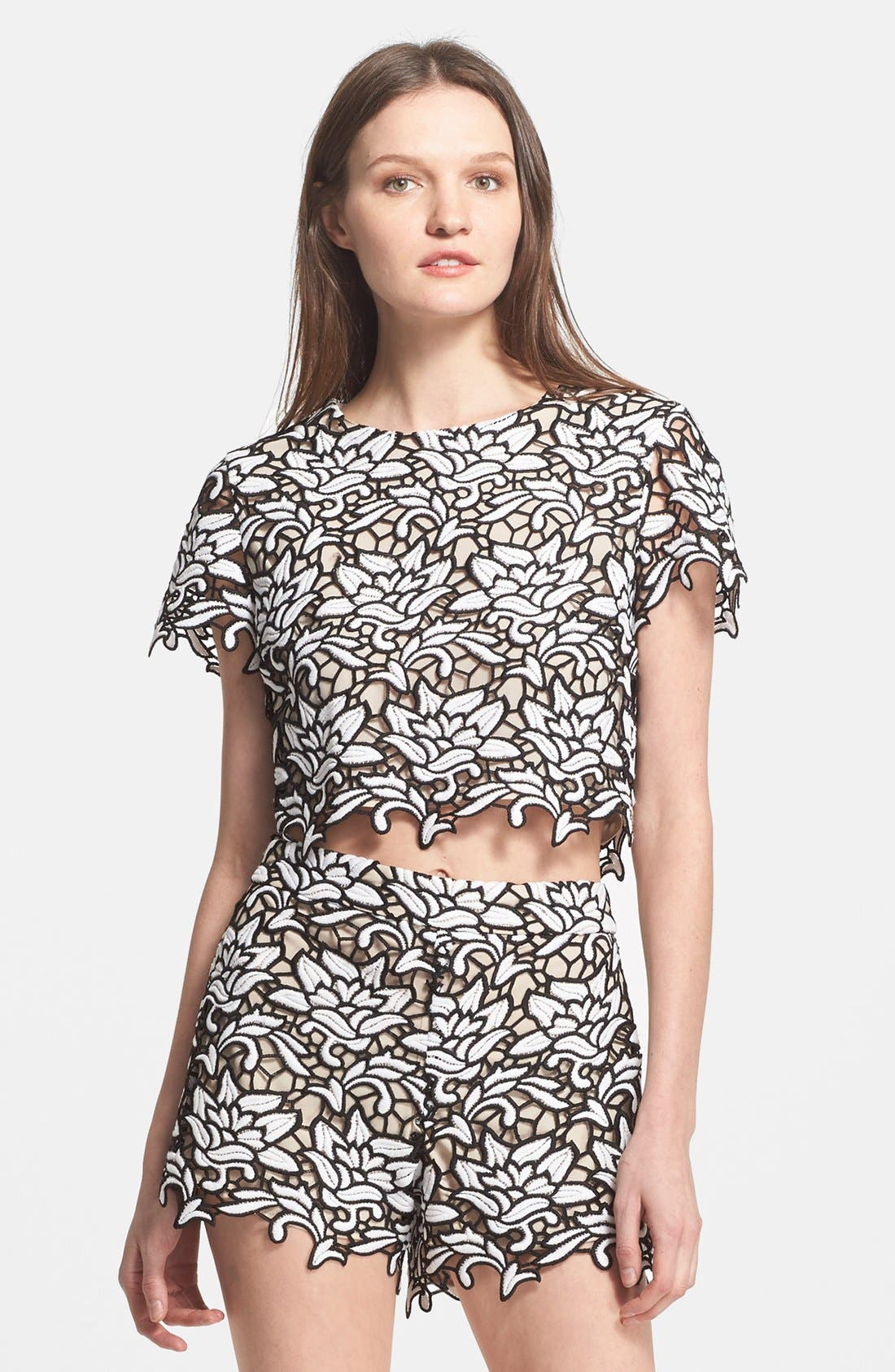 Main Image - Alice + Olivia 'Eve' Crop Top