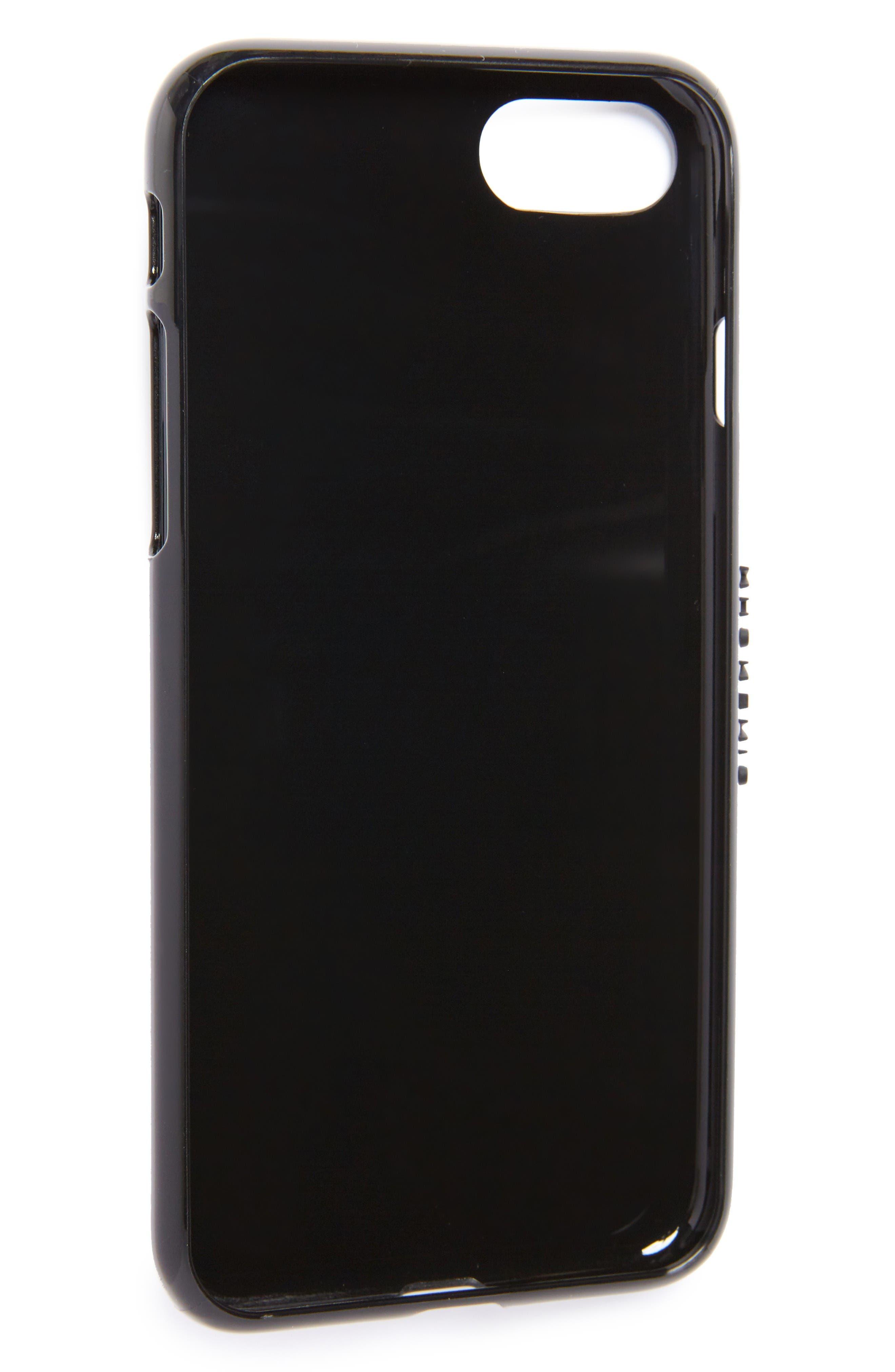 Star Tech iPhone 7 Case,                             Alternate thumbnail 2, color,                             Black