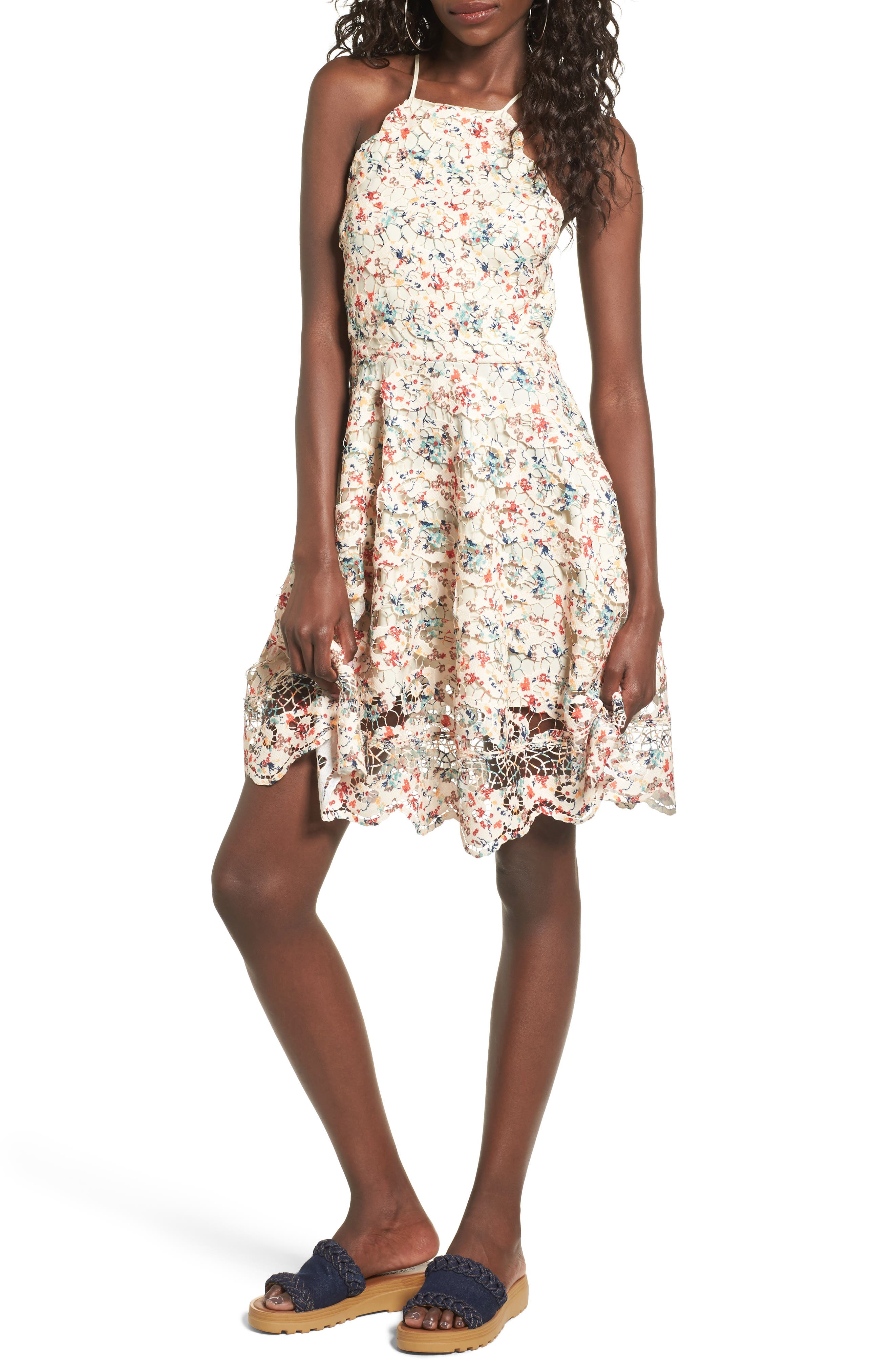 Main Image - Tularosa Cyrus Lace Skater Dress