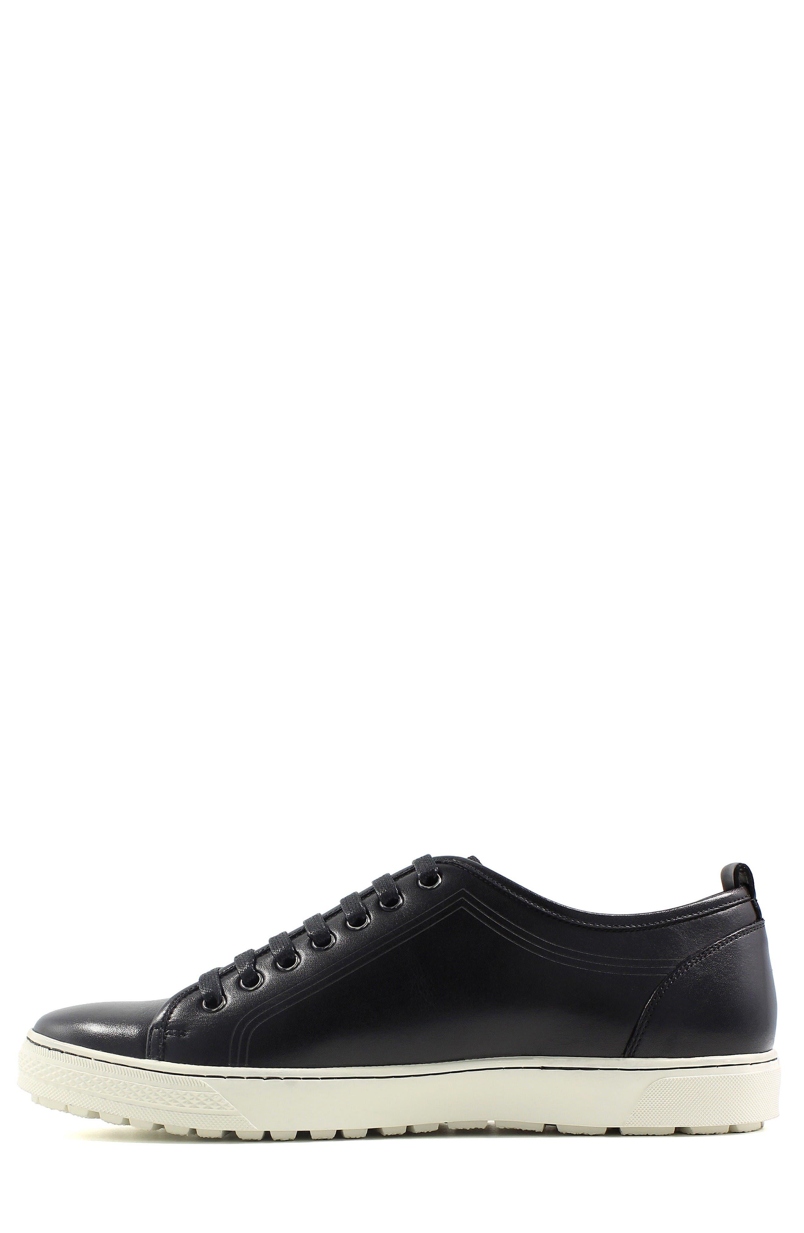 Forward Lo Sneaker,                             Alternate thumbnail 2, color,                             Black/ White Leather