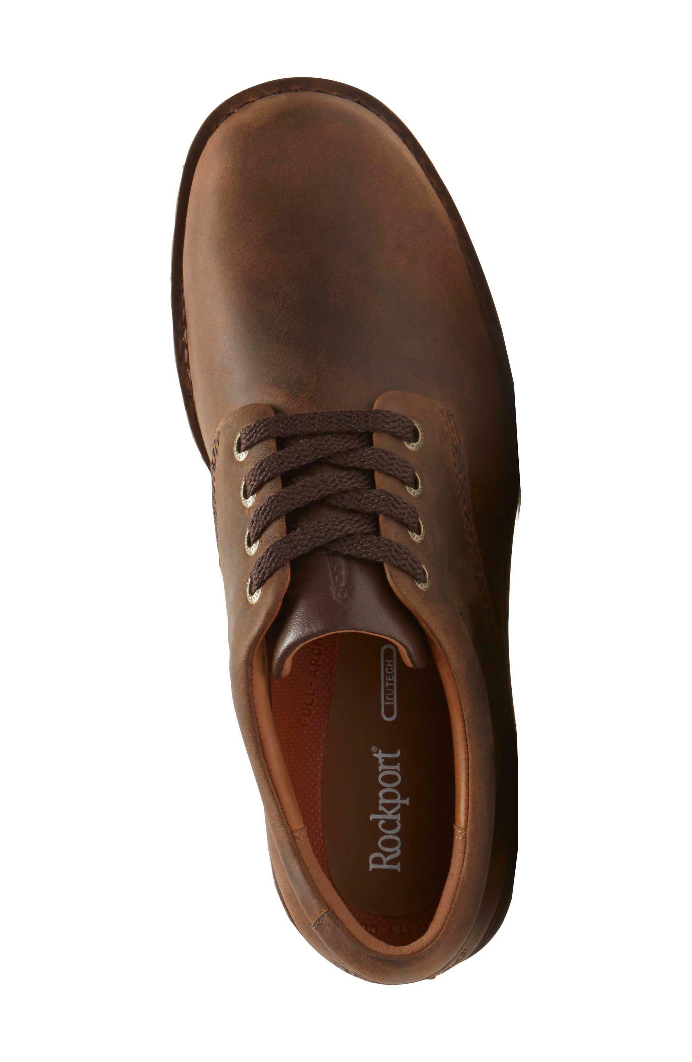 'Prestige Point' Plain Toe Derby,                             Alternate thumbnail 4, color,                             Beeswax Leather