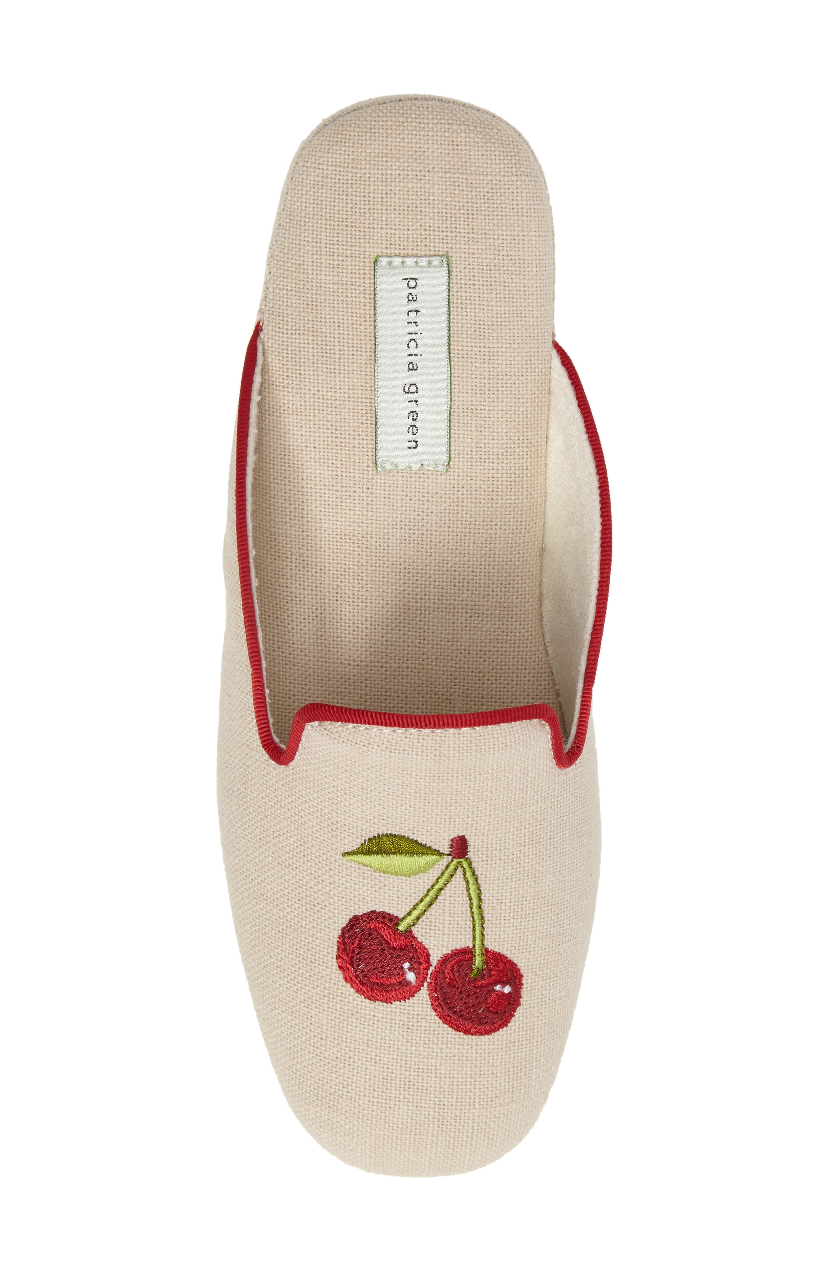 Cherries Slipper,                             Alternate thumbnail 5, color,                             Natural Fabric