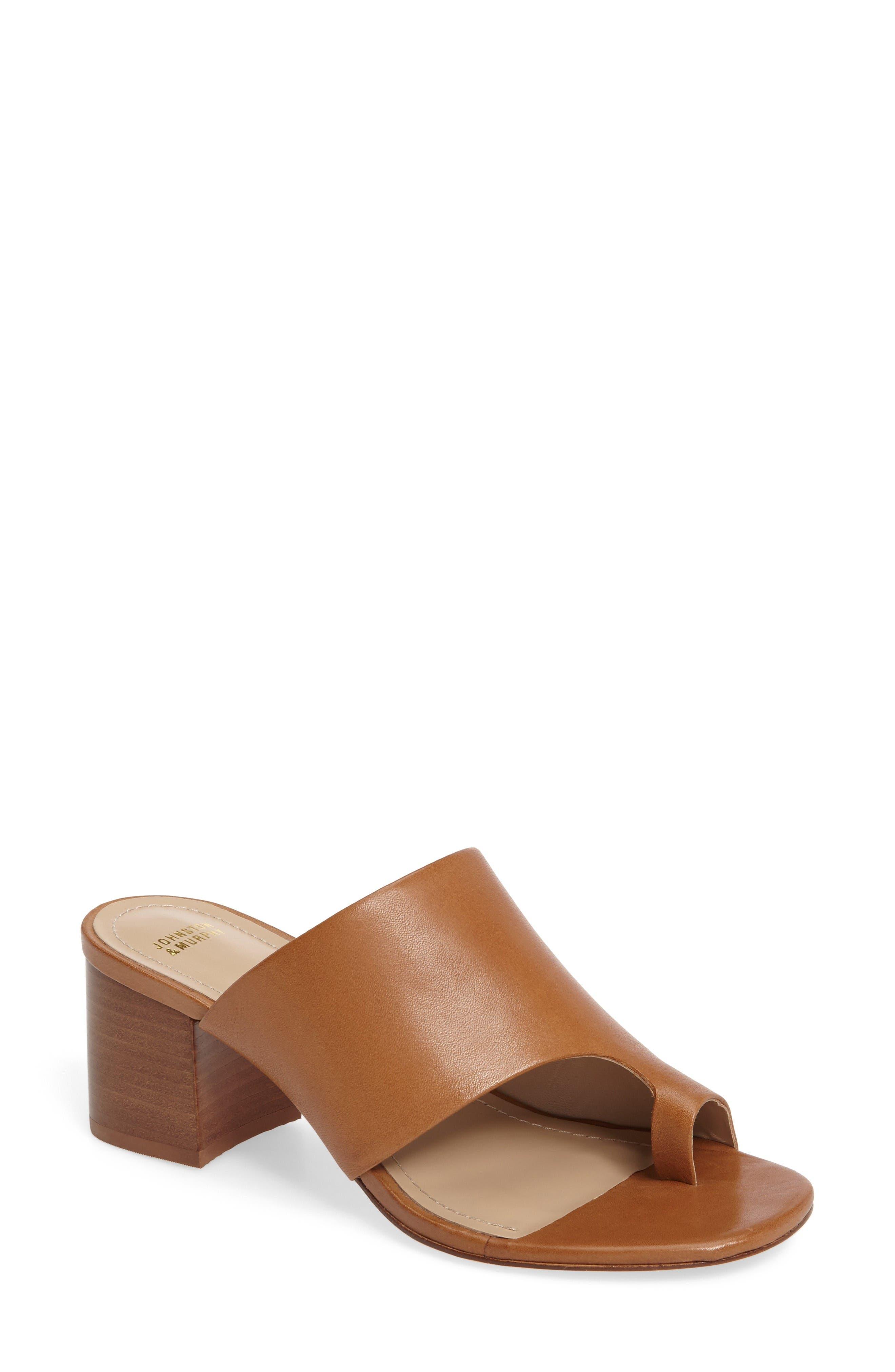 Johnston & Murphy Kelsey Toe Loop Slide Sandal (Women)