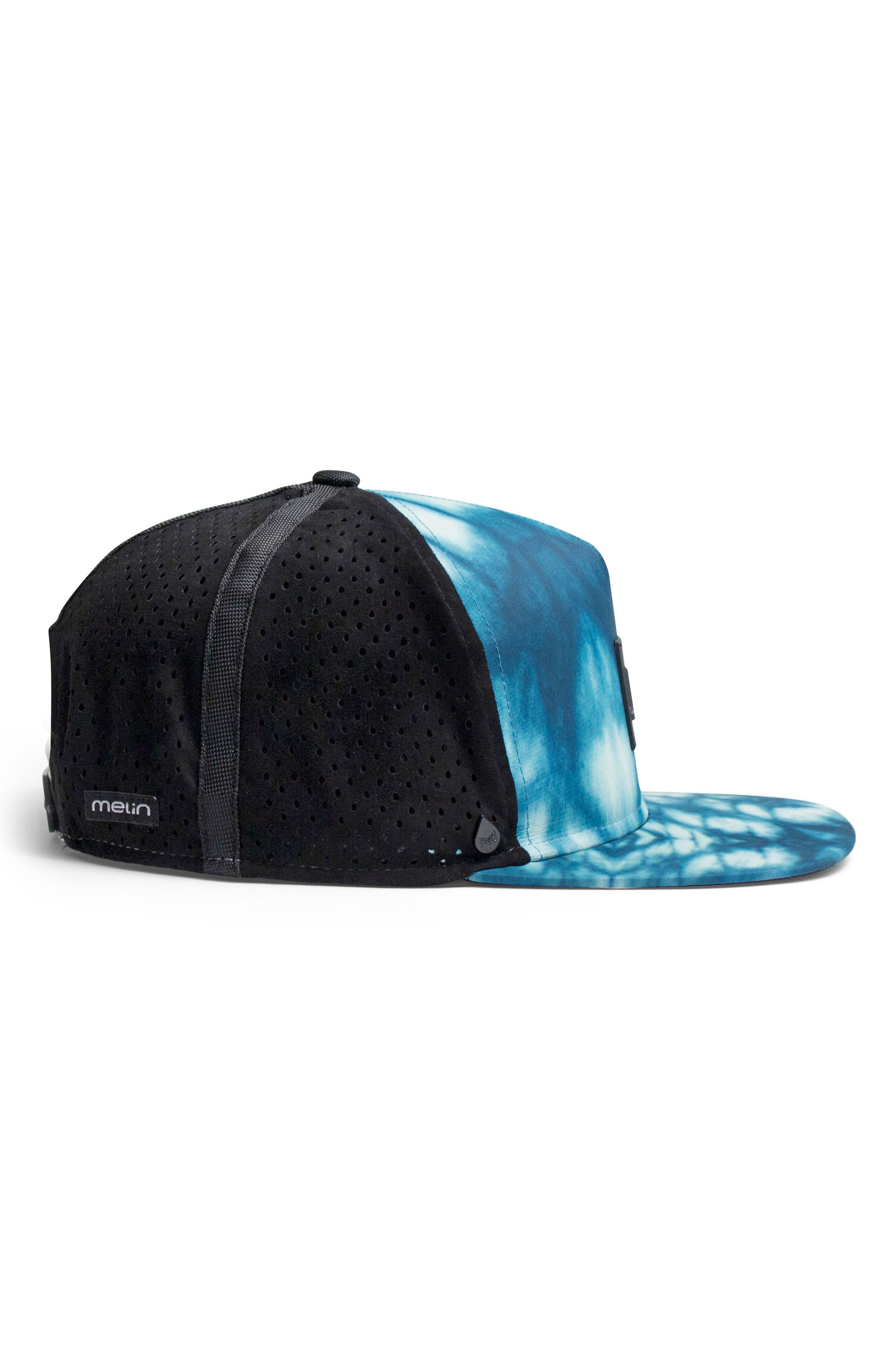 'The Nomad' Split Fit Snapback Baseball Cap,                             Alternate thumbnail 5, color,                             Blue Shibori