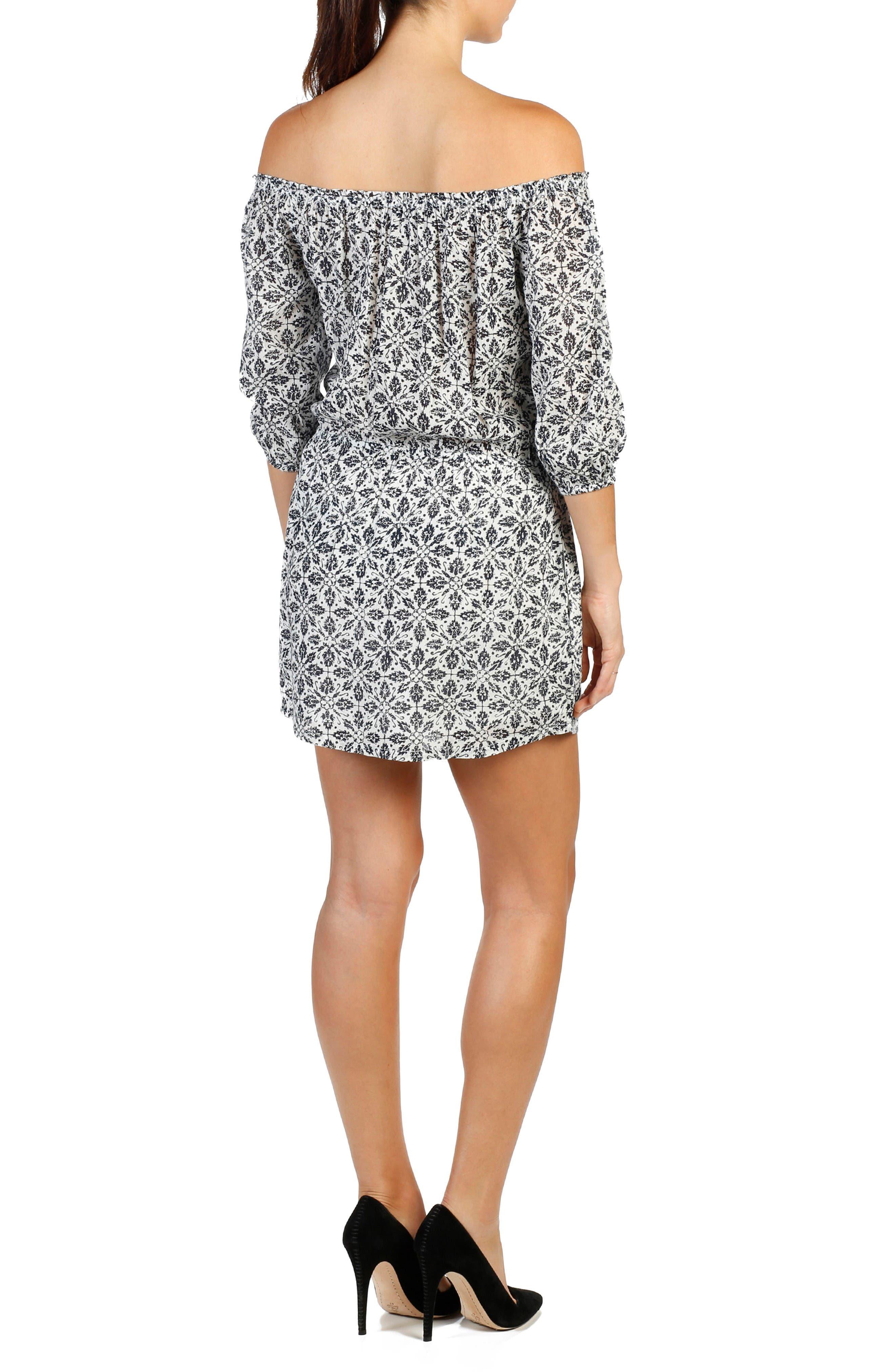 Alternate Image 2  - PAIGE Clover Cotton Off the Shoulder Dress