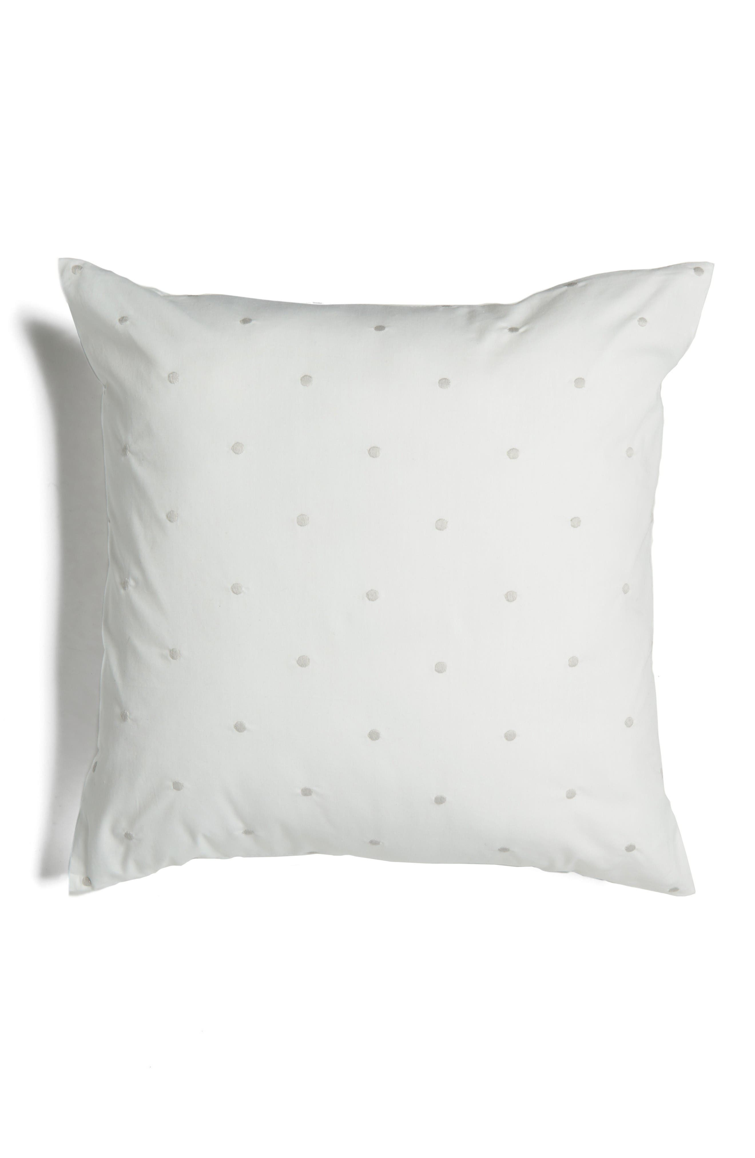 binki dot accent pillow,                             Main thumbnail 1, color,                             White/ Platinum