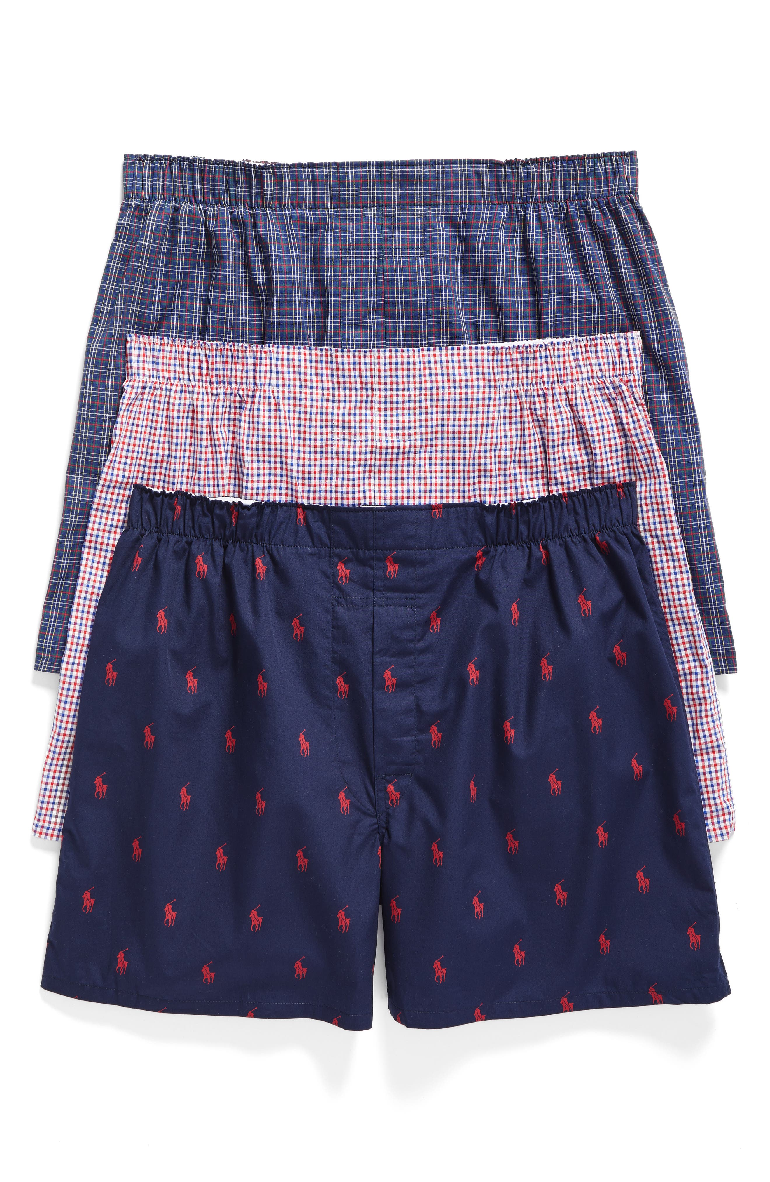 Main Image - Polo Ralph Lauren 3-Pack Woven Cotton Boxers
