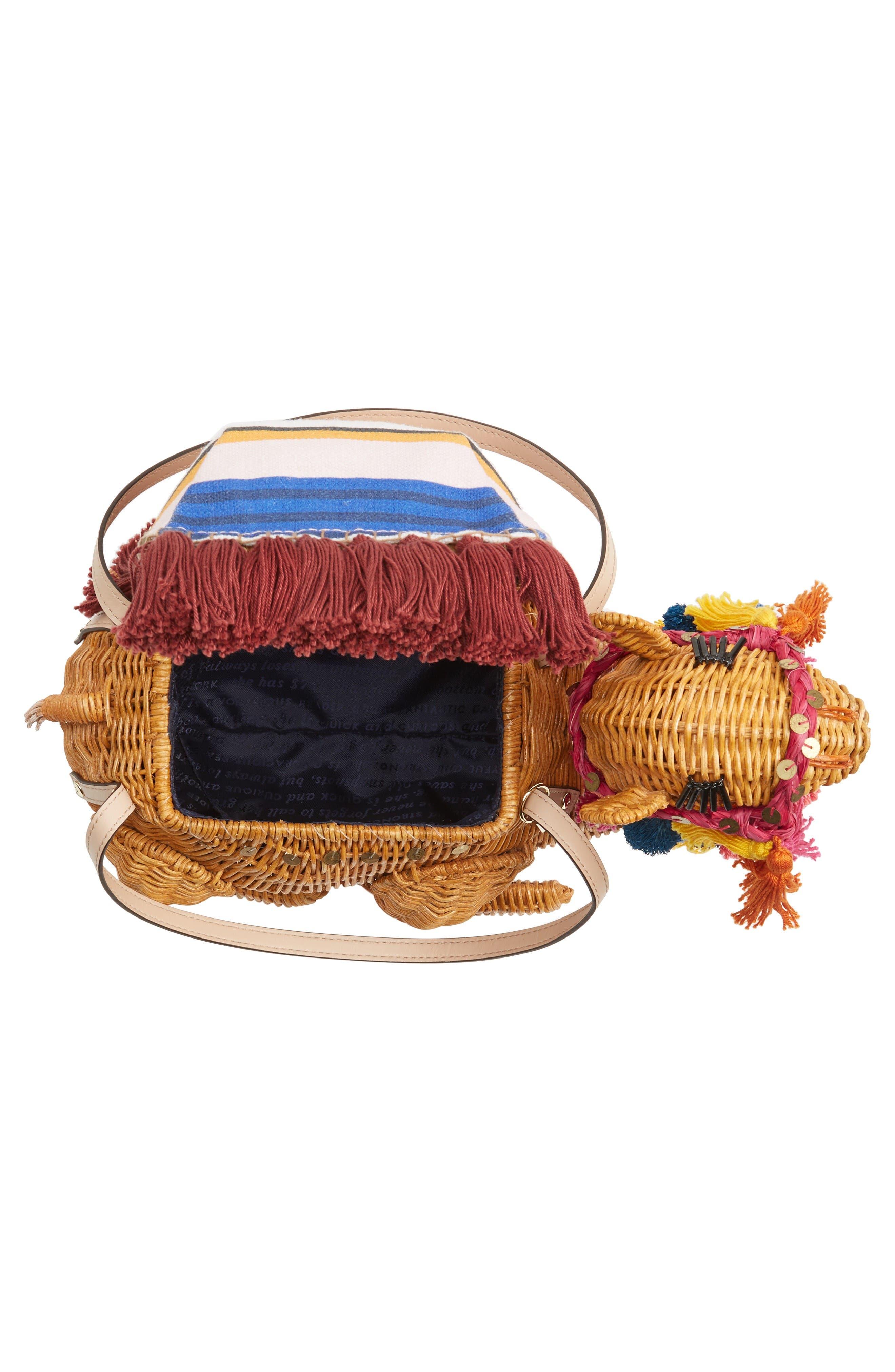 Alternate Image 4  - kate spade new york spice things up wicker camel handbag