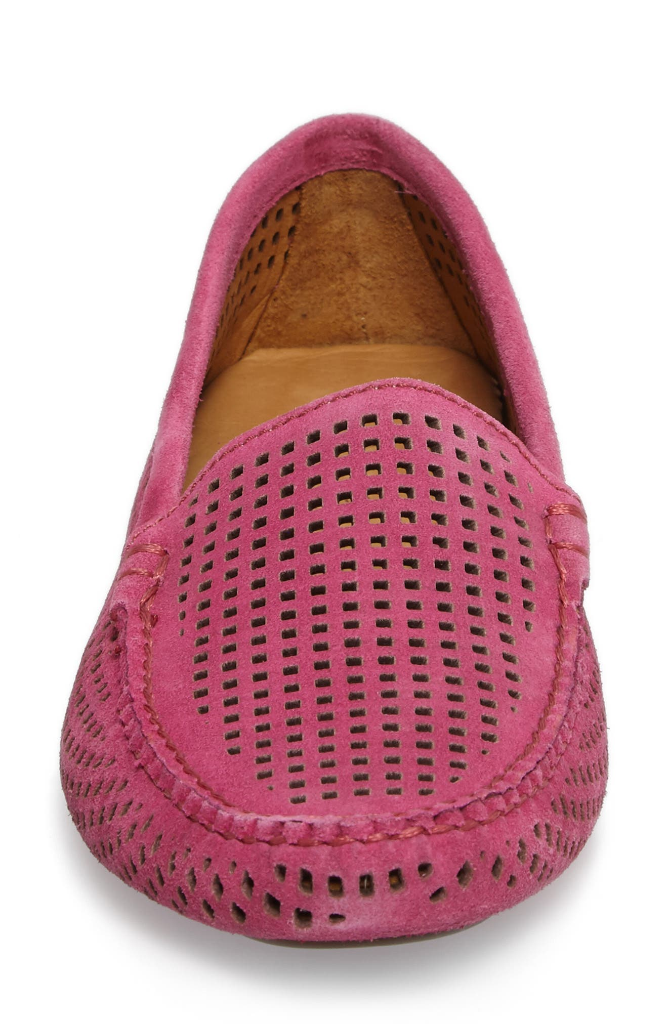 'Barrie' Flat,                             Alternate thumbnail 4, color,                             Hot Pink Suede