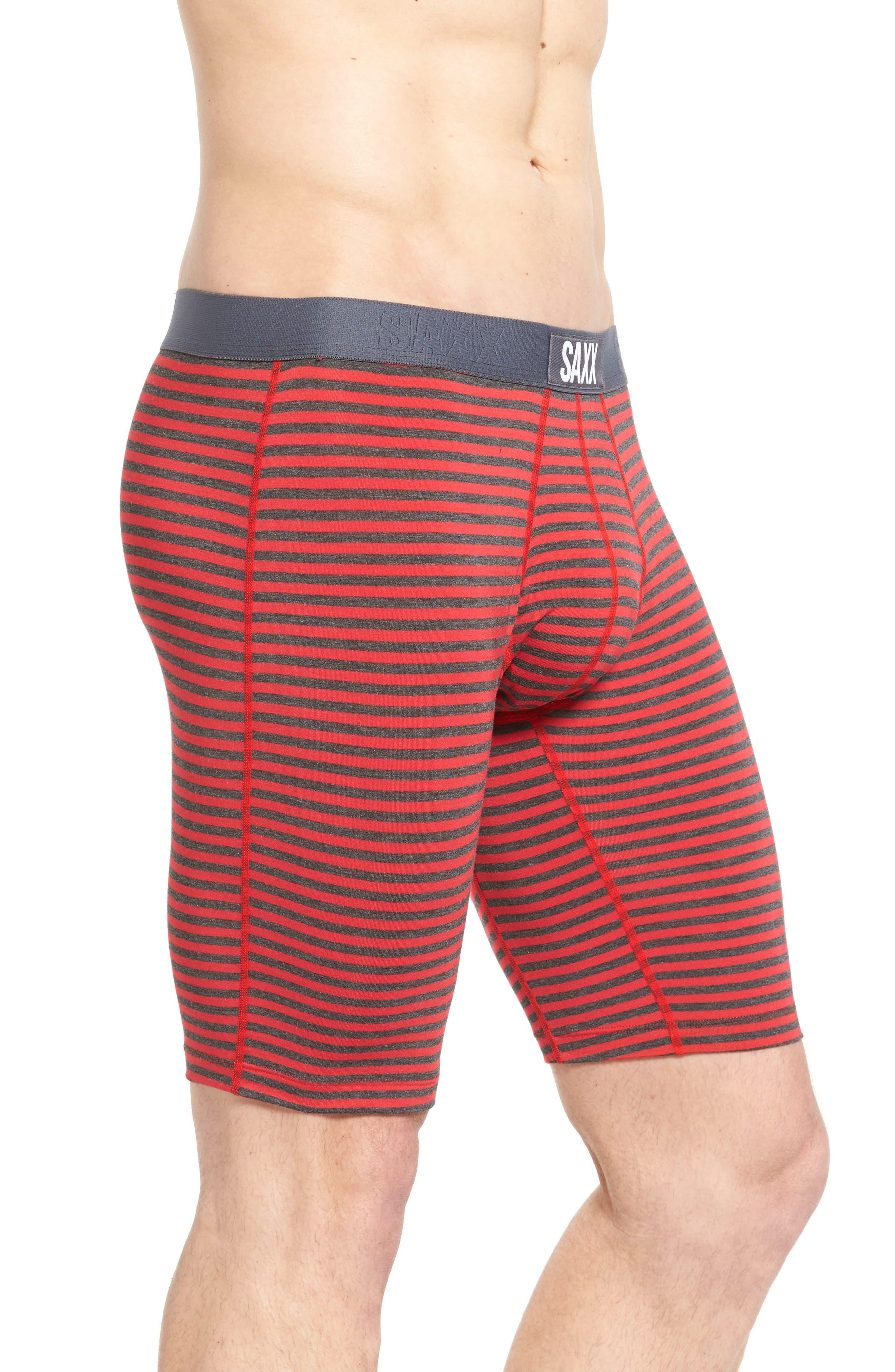Vibe Boxer Briefs,                             Alternate thumbnail 3, color,                             Red Hiker Stripe