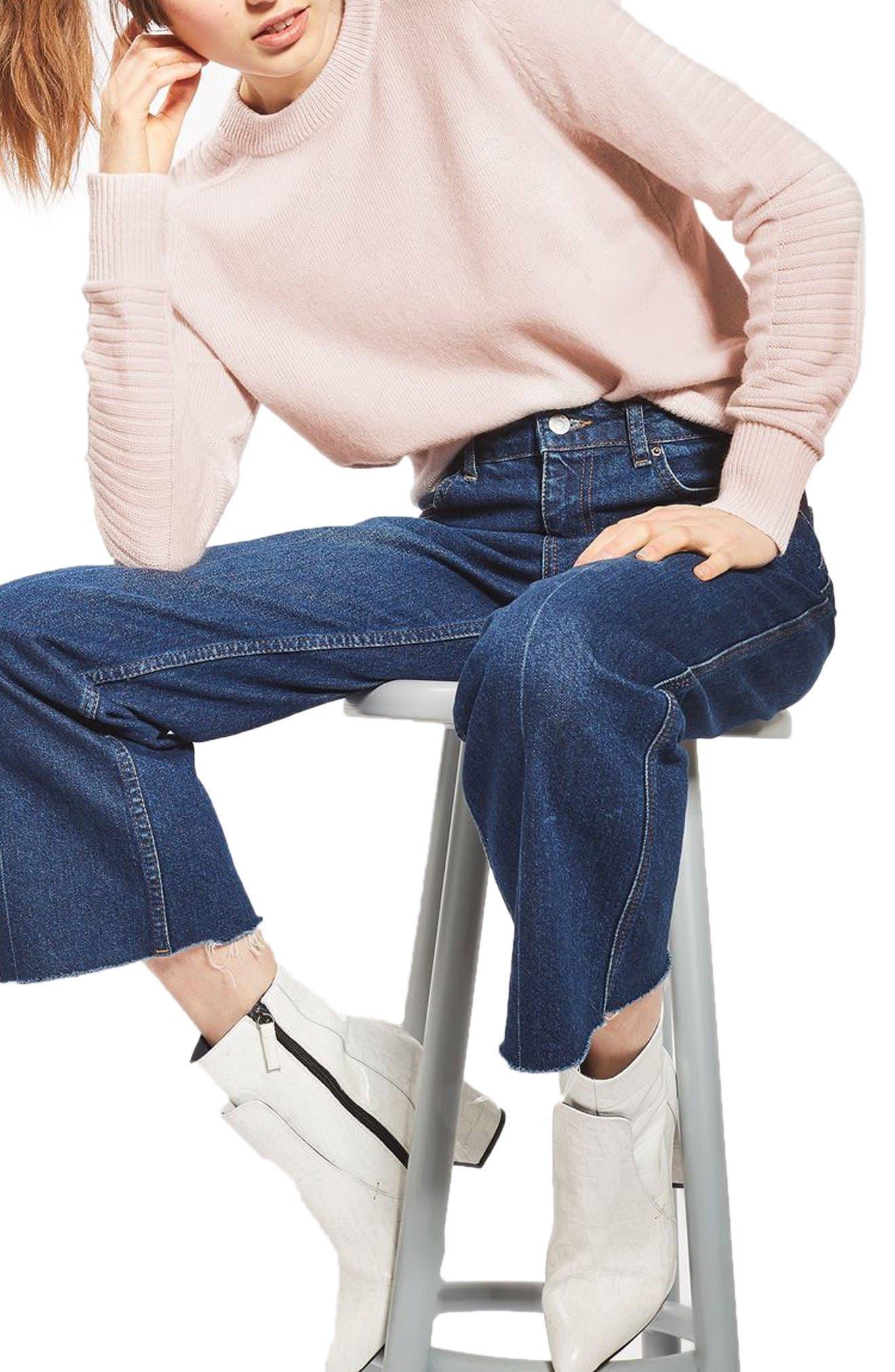Main Image - Topshop Links Panel Sweater