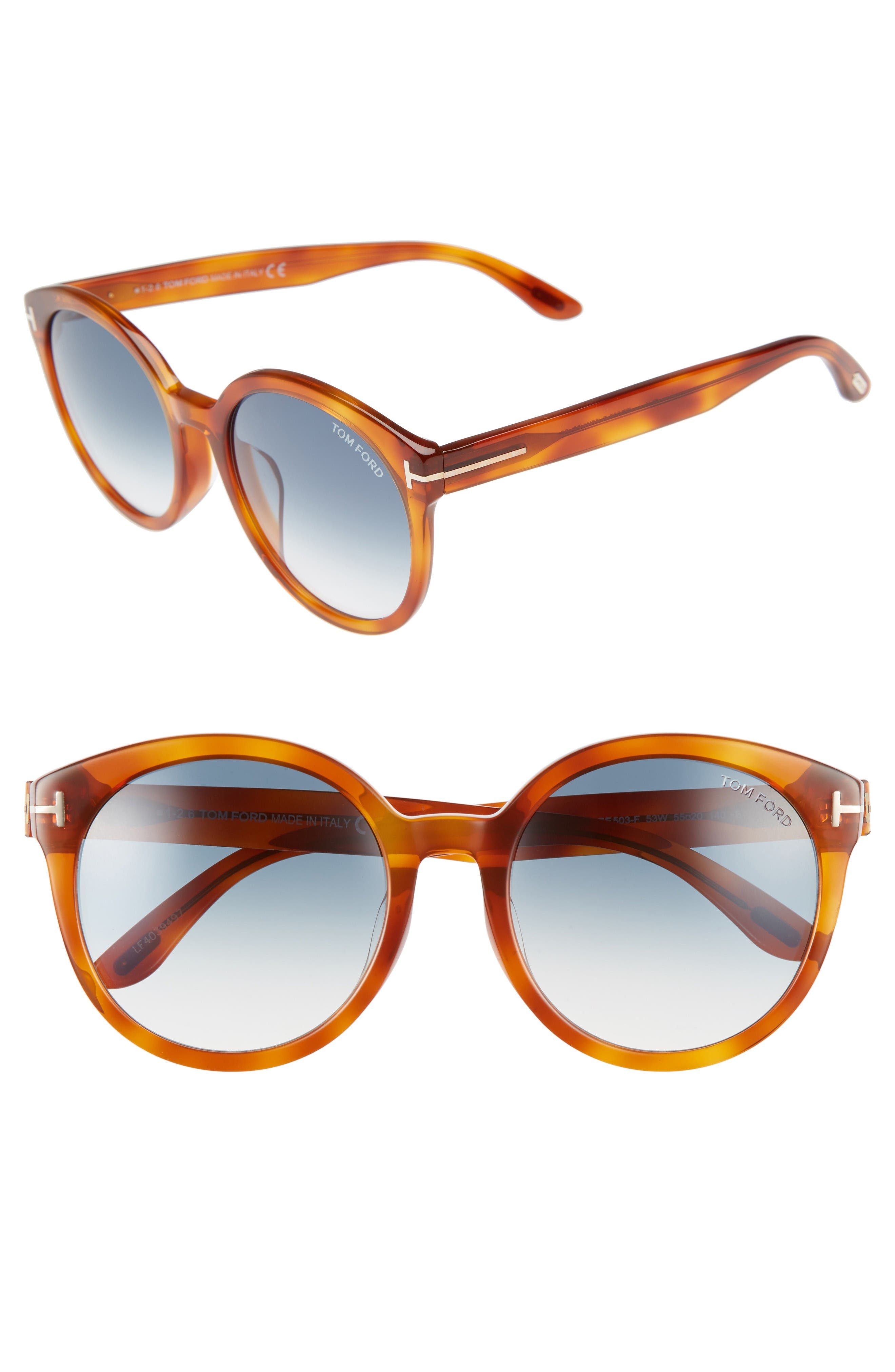 Tom Ford Philippa Special Fit 55mm Sunglasses