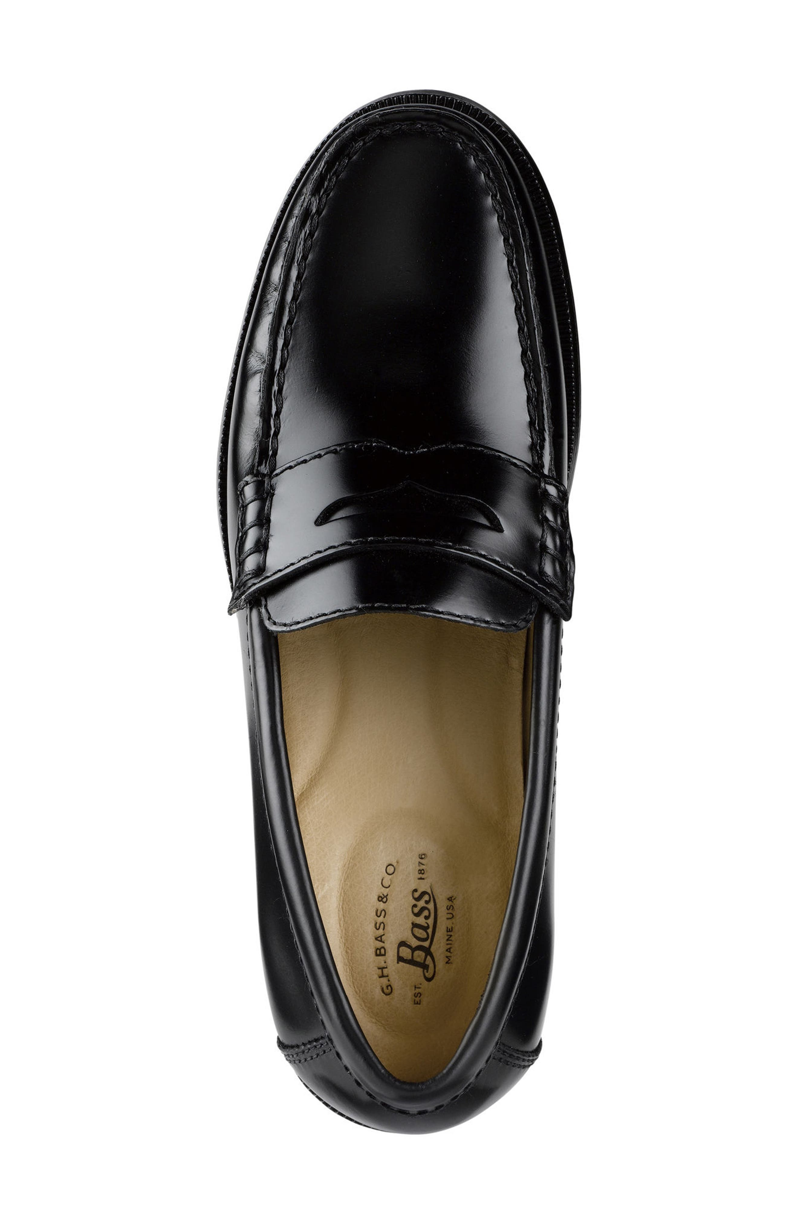 Carmichael Penny Loafer,                             Alternate thumbnail 4, color,                             Black