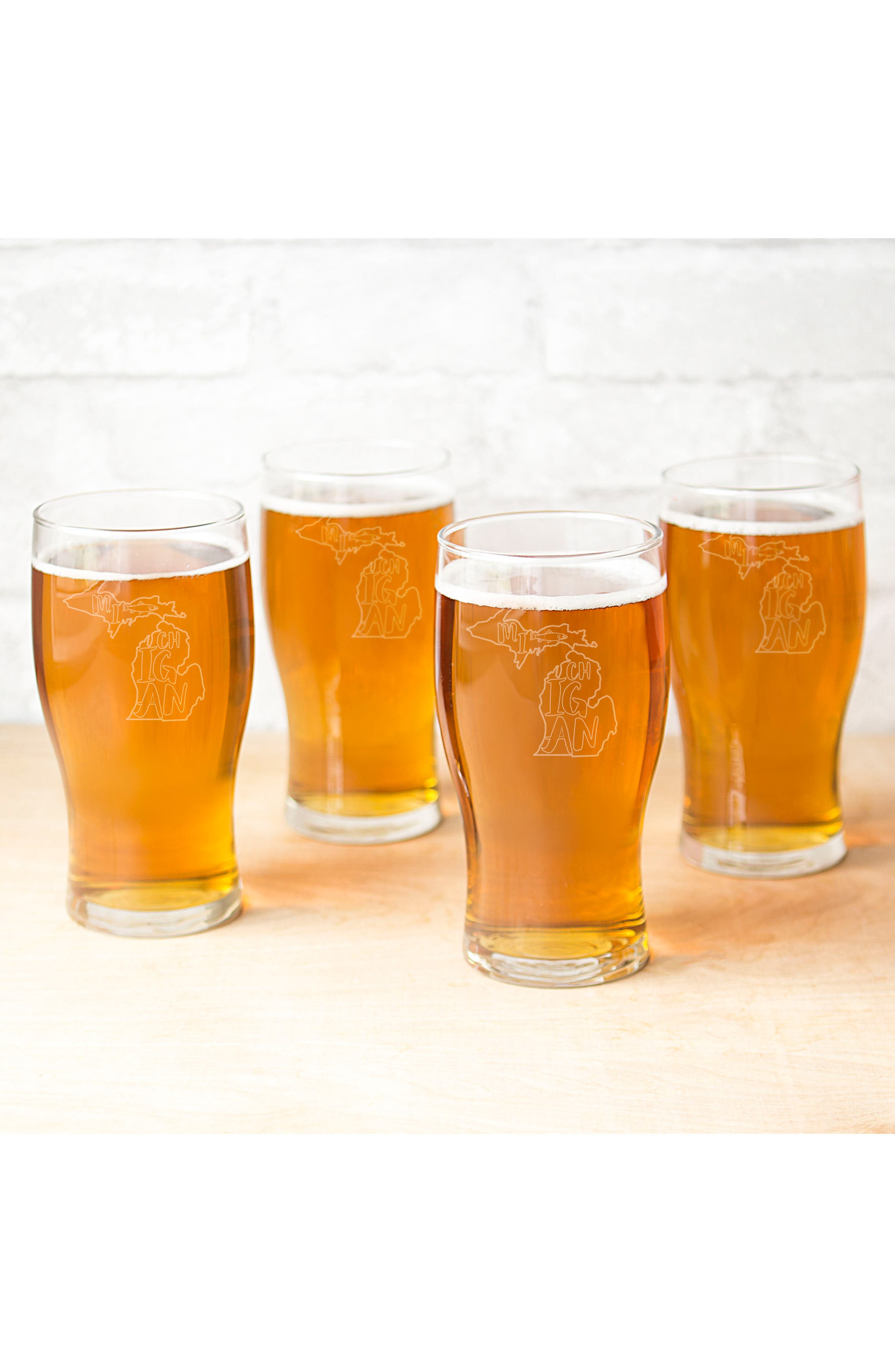 Alternate Image 5  - Cathy's Concepts State Set of 4 Pilsner Glasses