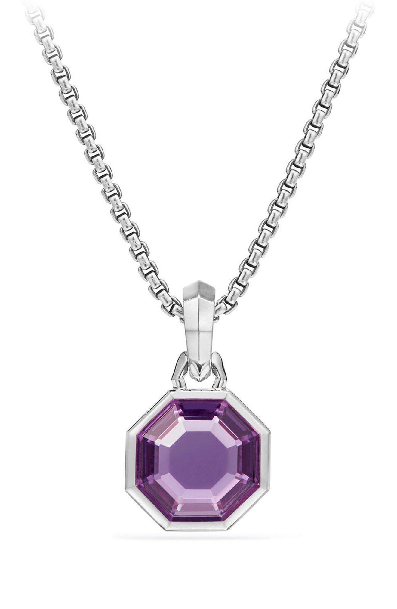 Main Image - David Yurman Cable Collectibles Octagon Cut Semiprecious Stone Amulet