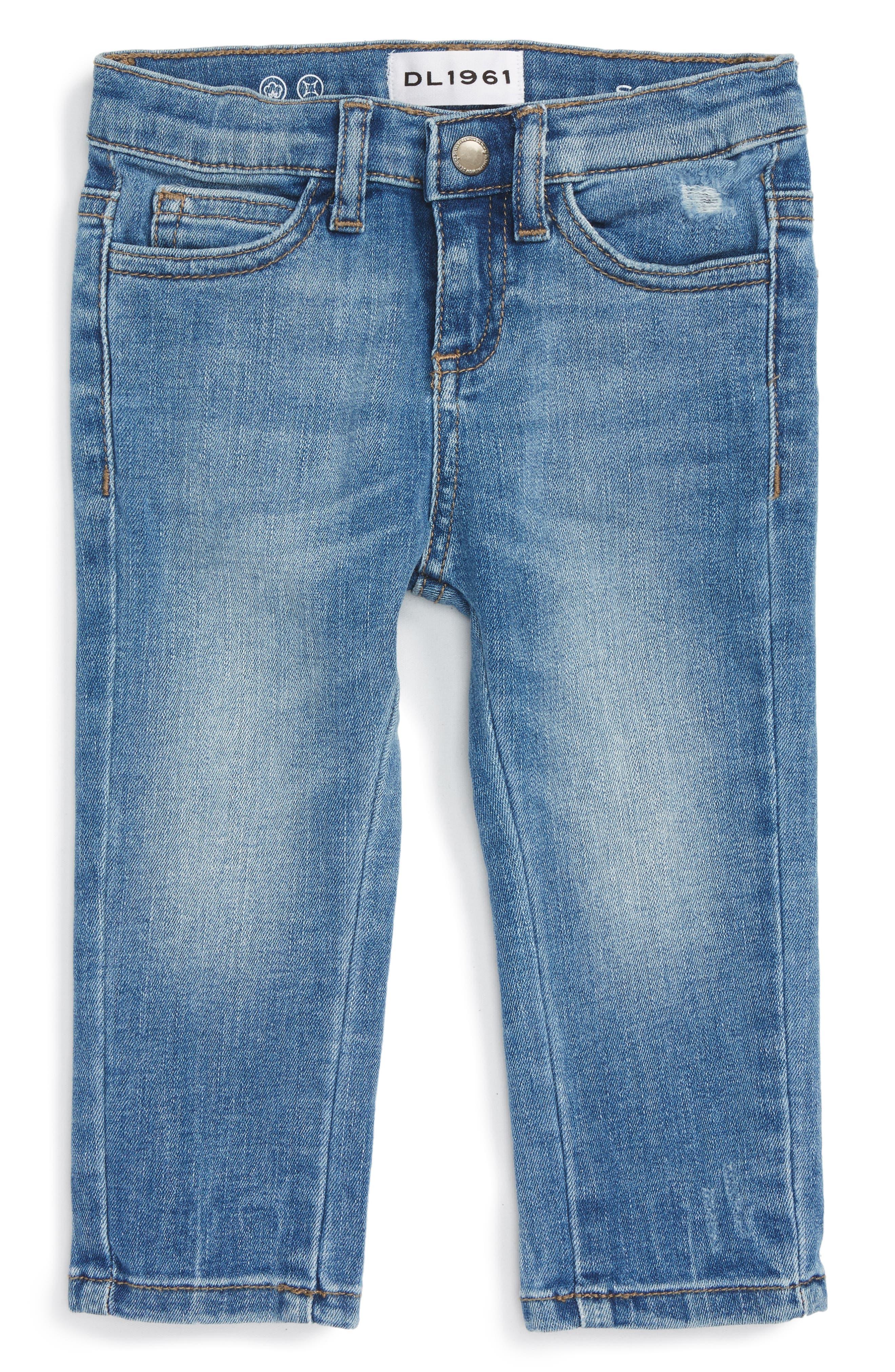 Alternate Image 1 Selected - DL1961 Sophie Slim Fit Jeans (Baby Girls)
