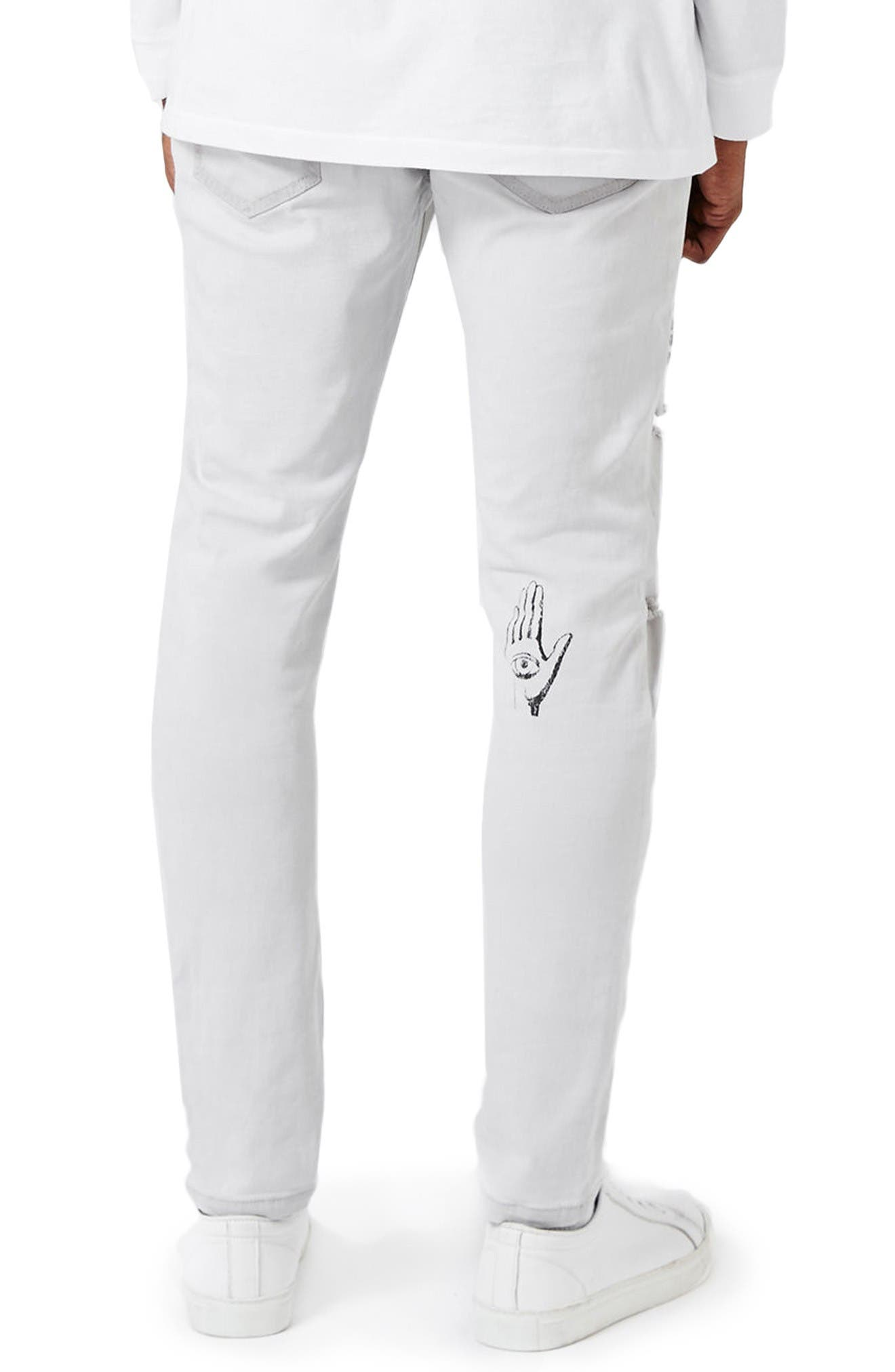 Alternate Image 3  - Topman AAA Collection Voices Print Skinny Fit Jeans