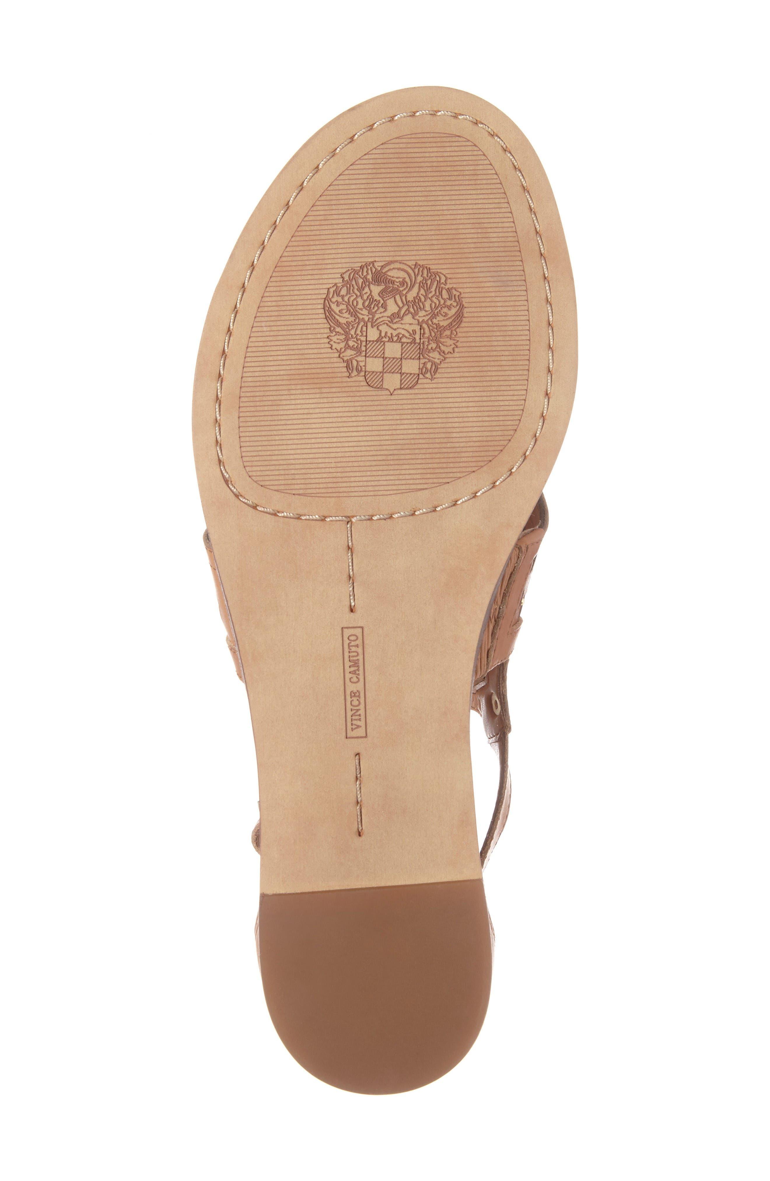 Sitara Sandal,                             Alternate thumbnail 6, color,                             Peanut Leather