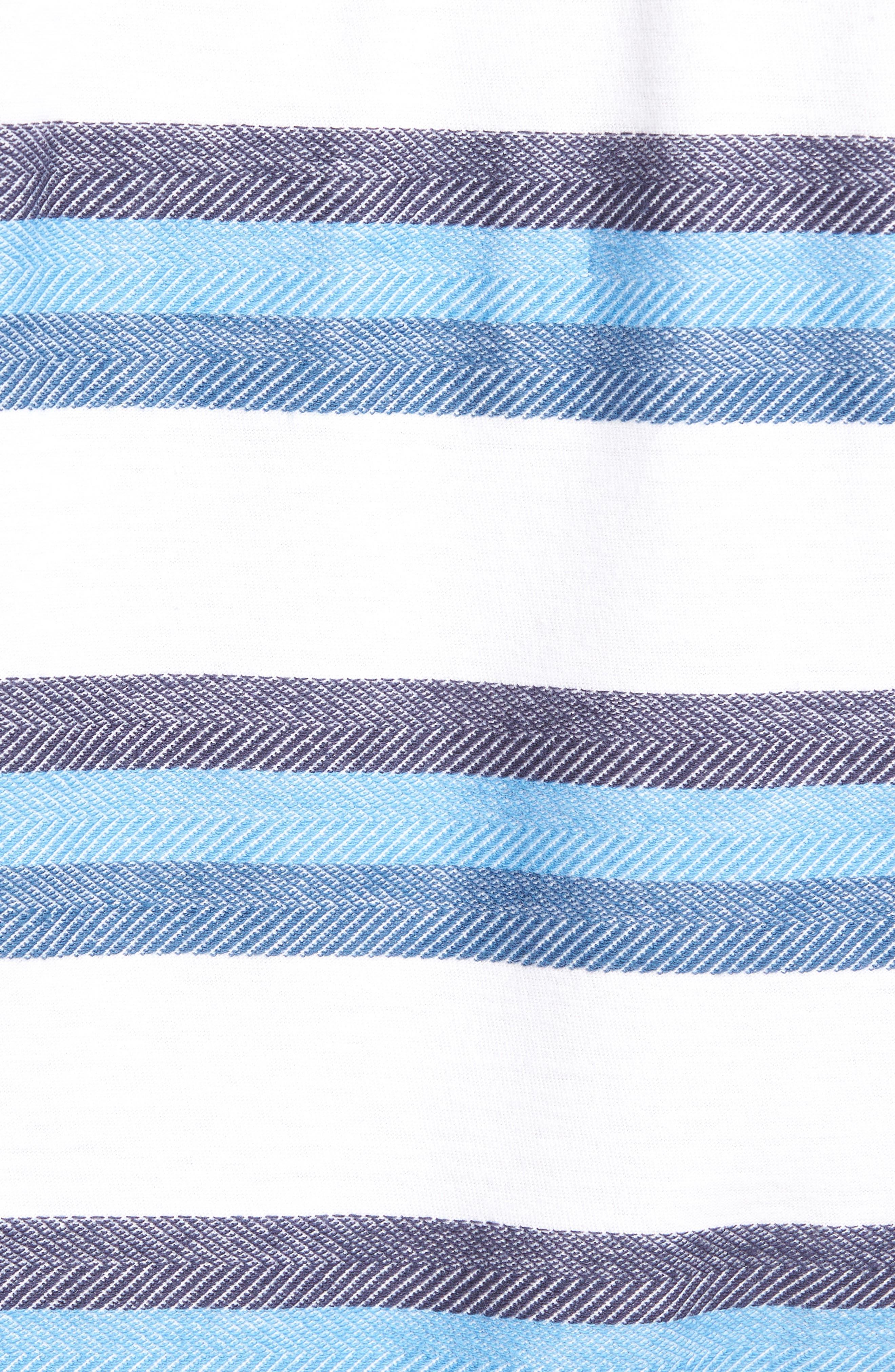 Marton Sport Fit Stripe Polo,                             Alternate thumbnail 5, color,                             Glacier