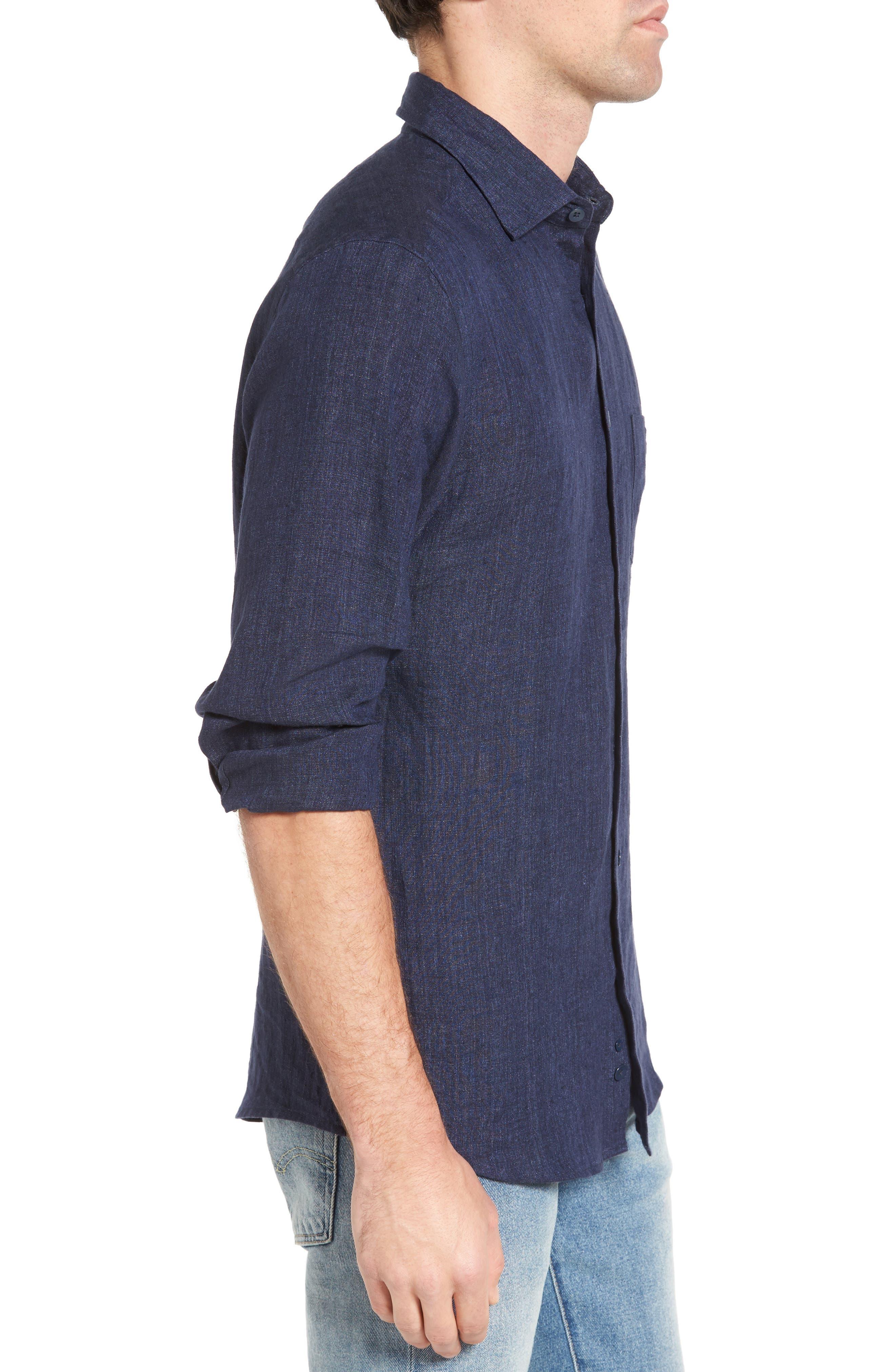 Alternate Image 3  - Rodd & Gunn Mount Bruce Sports Fit Linen Sport Shirt