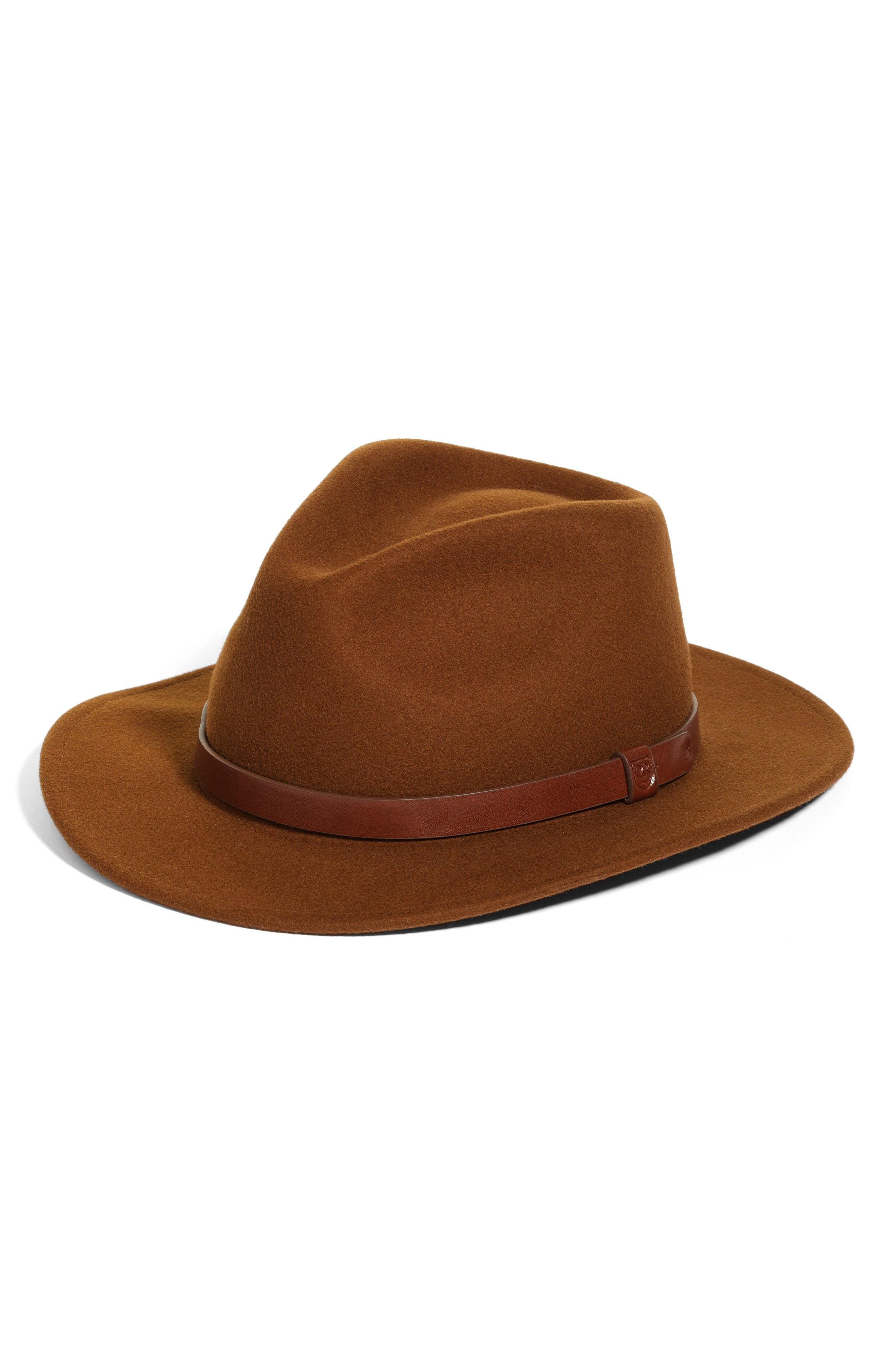 Messer Wool Fedora,                             Main thumbnail 1, color,                             Coffee
