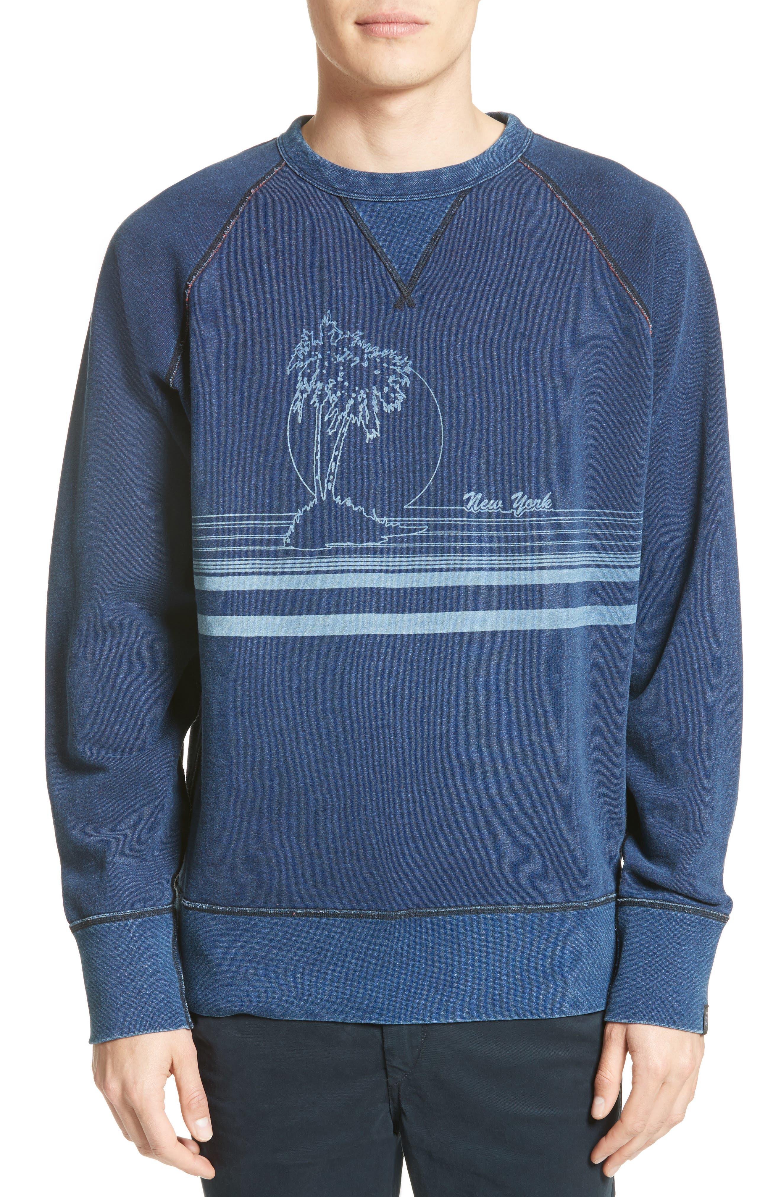 Graphic Sweatshirt,                         Main,                         color, Indigo