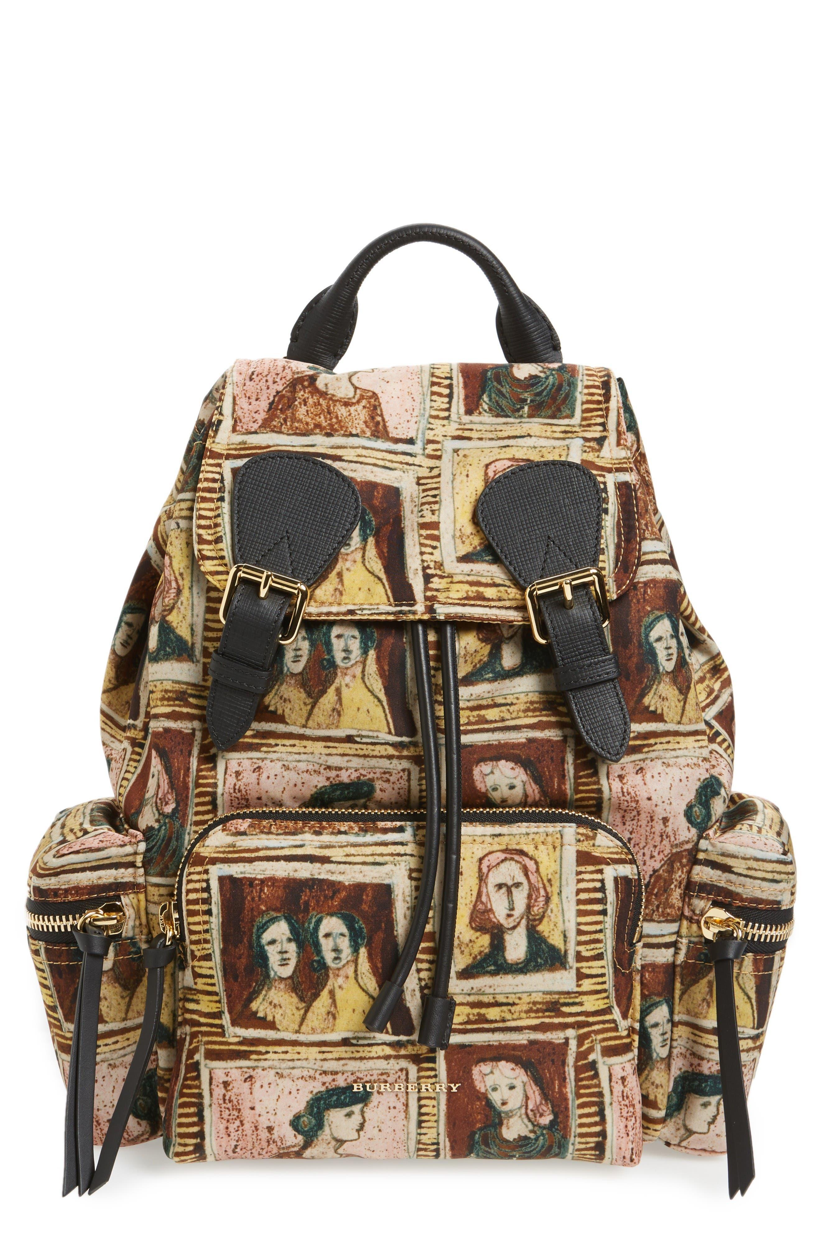 Medium Henrey Backpack,                             Main thumbnail 1, color,                             Umber Brown Multi