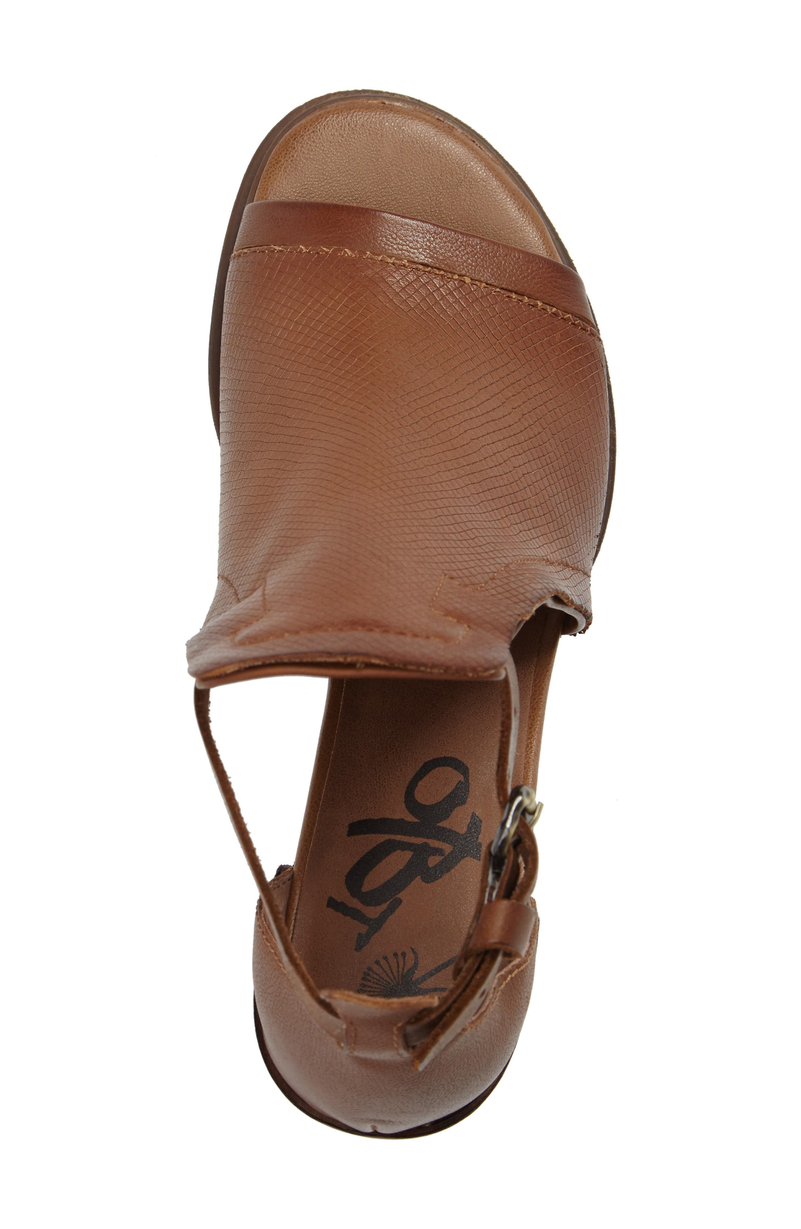 Metaphor Open Side Bootie,                             Alternate thumbnail 5, color,                             Medium Brown Leather