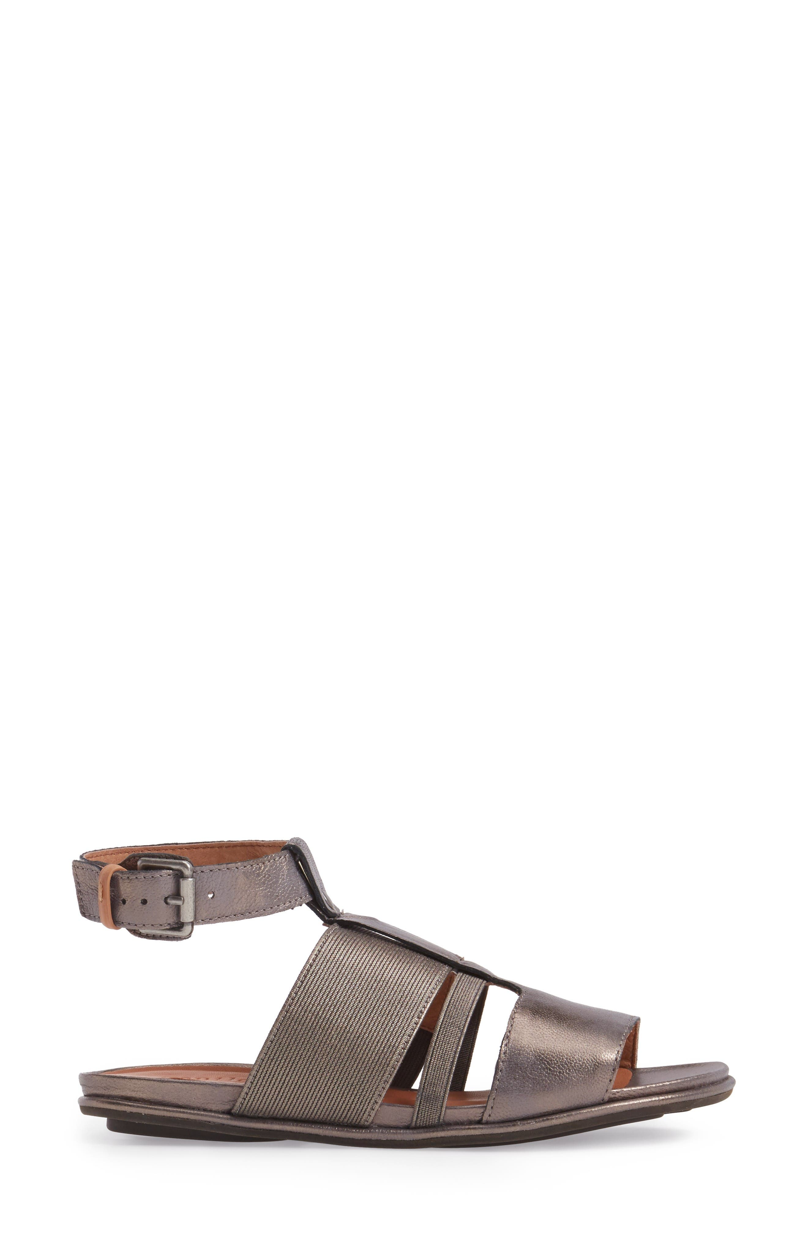 by Kenneth Cole Ophelia Sandal,                             Alternate thumbnail 3, color,                             Pewter Leather