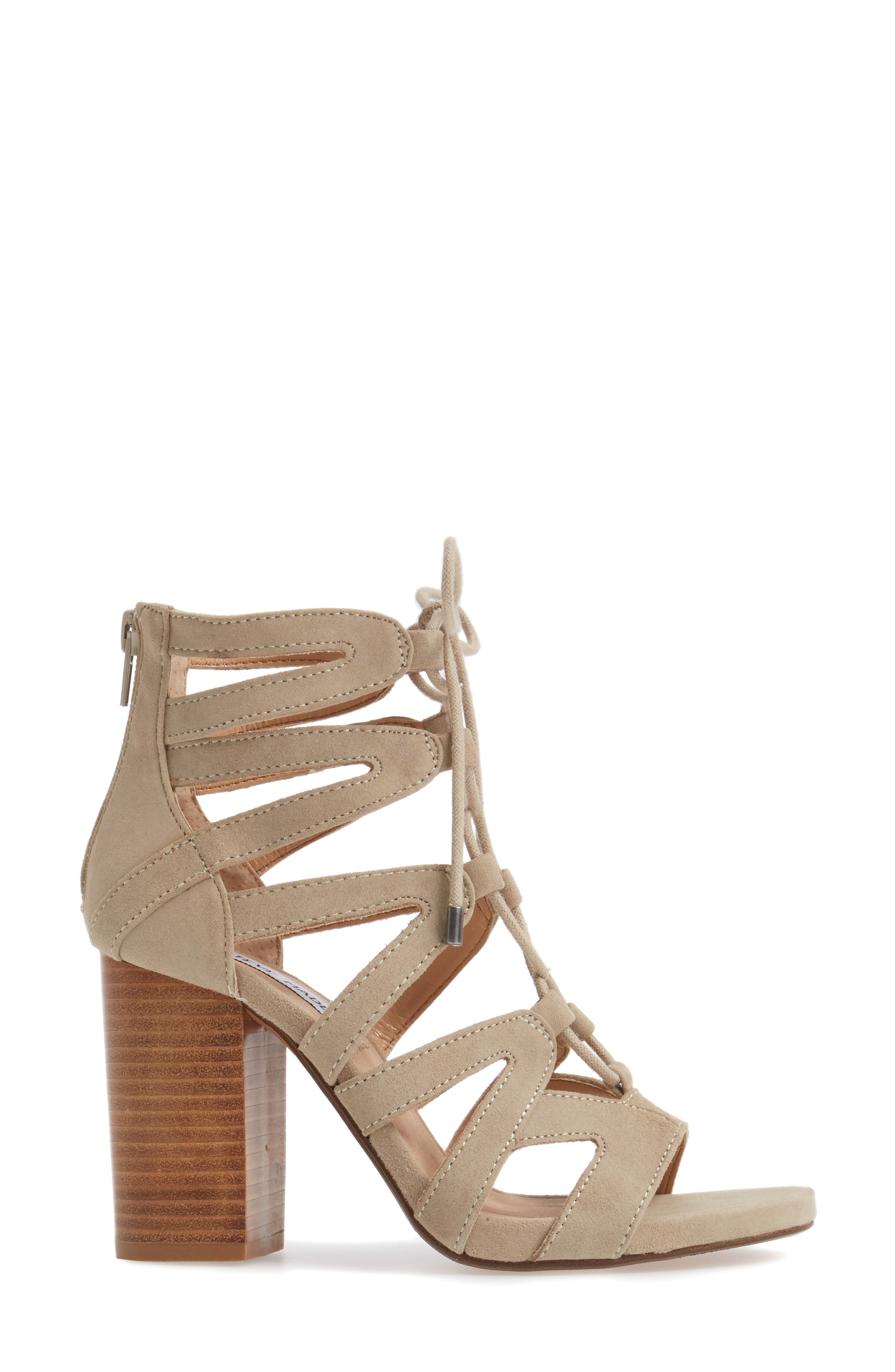 Gwyneth Sandal,                             Alternate thumbnail 3, color,                             Taupe Suede