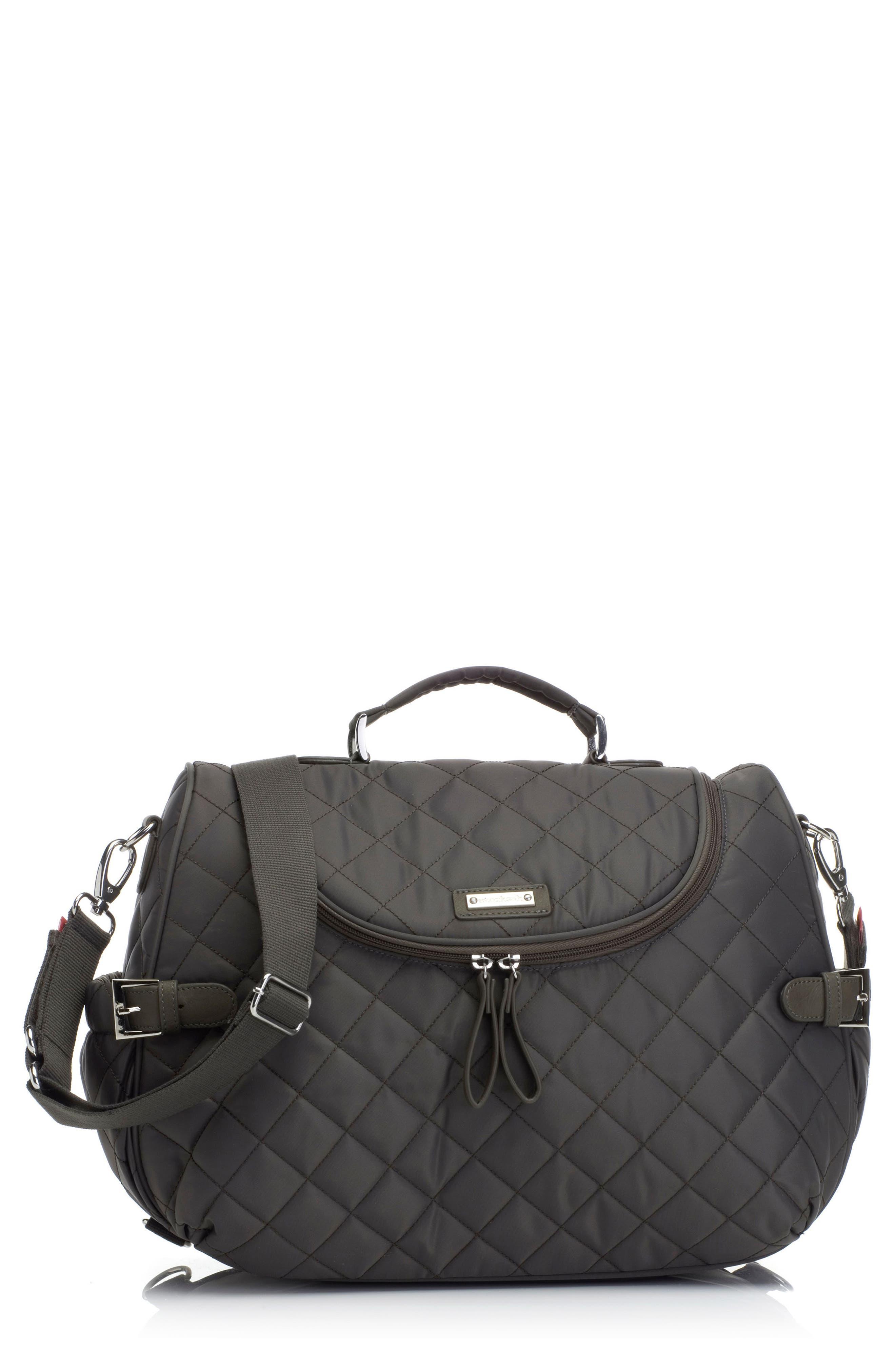 Alternate Image 1 Selected - Storksak Poppy Convertible Diaper Bag