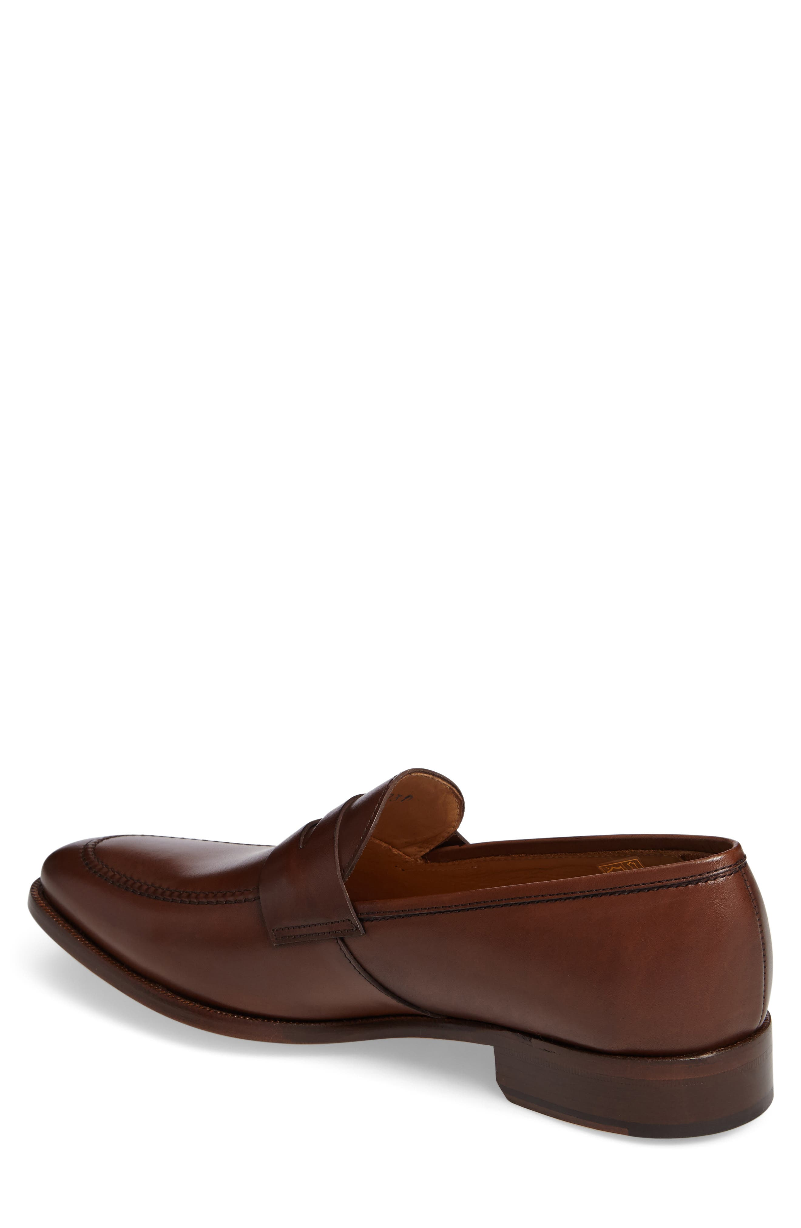 Abe Penny Loafer,                             Alternate thumbnail 2, color,                             Hazelnut Leather