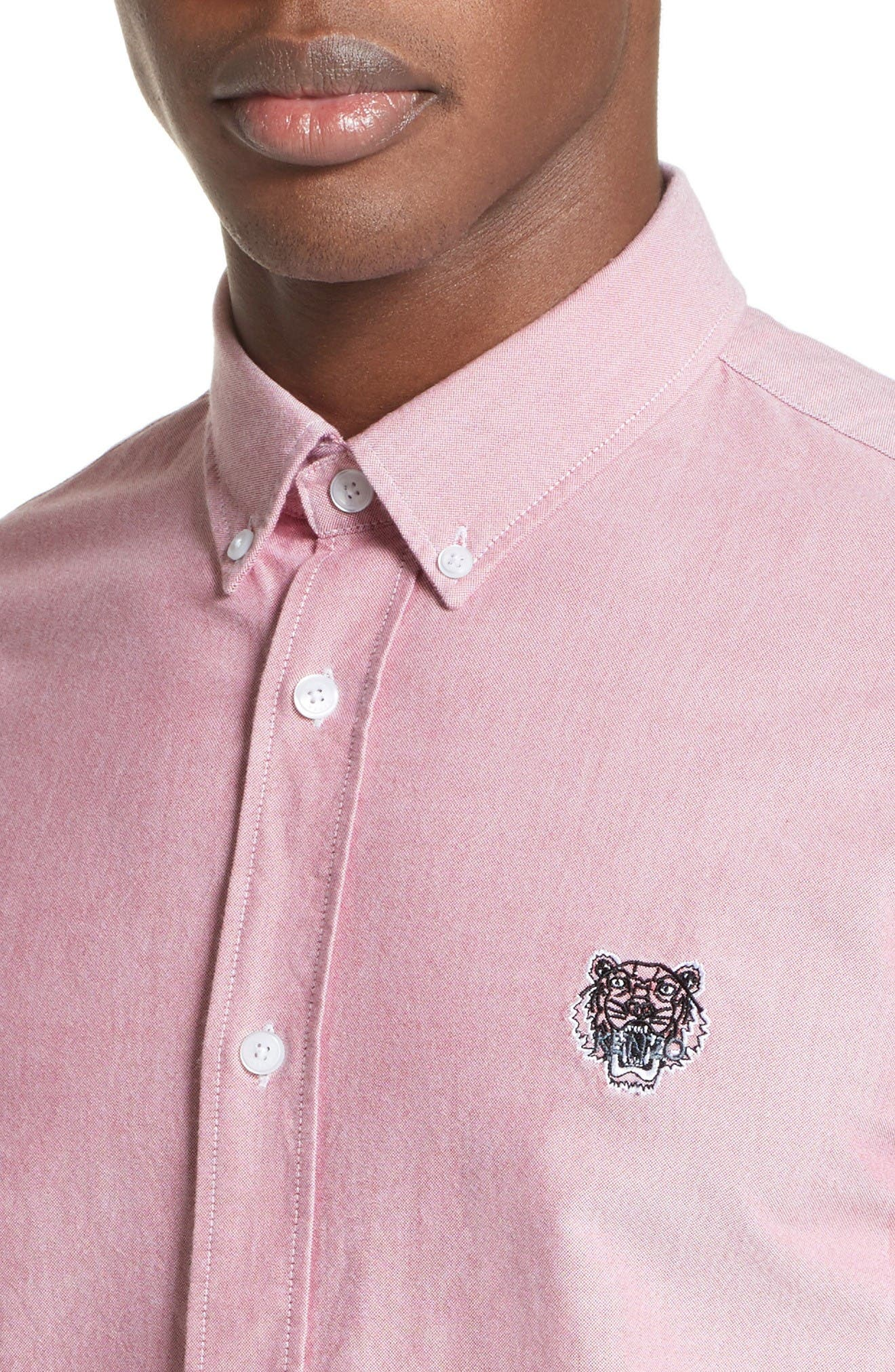 Alternate Image 4  - KENZO Extra Trim Fit Tiger Crest Sport Shirt