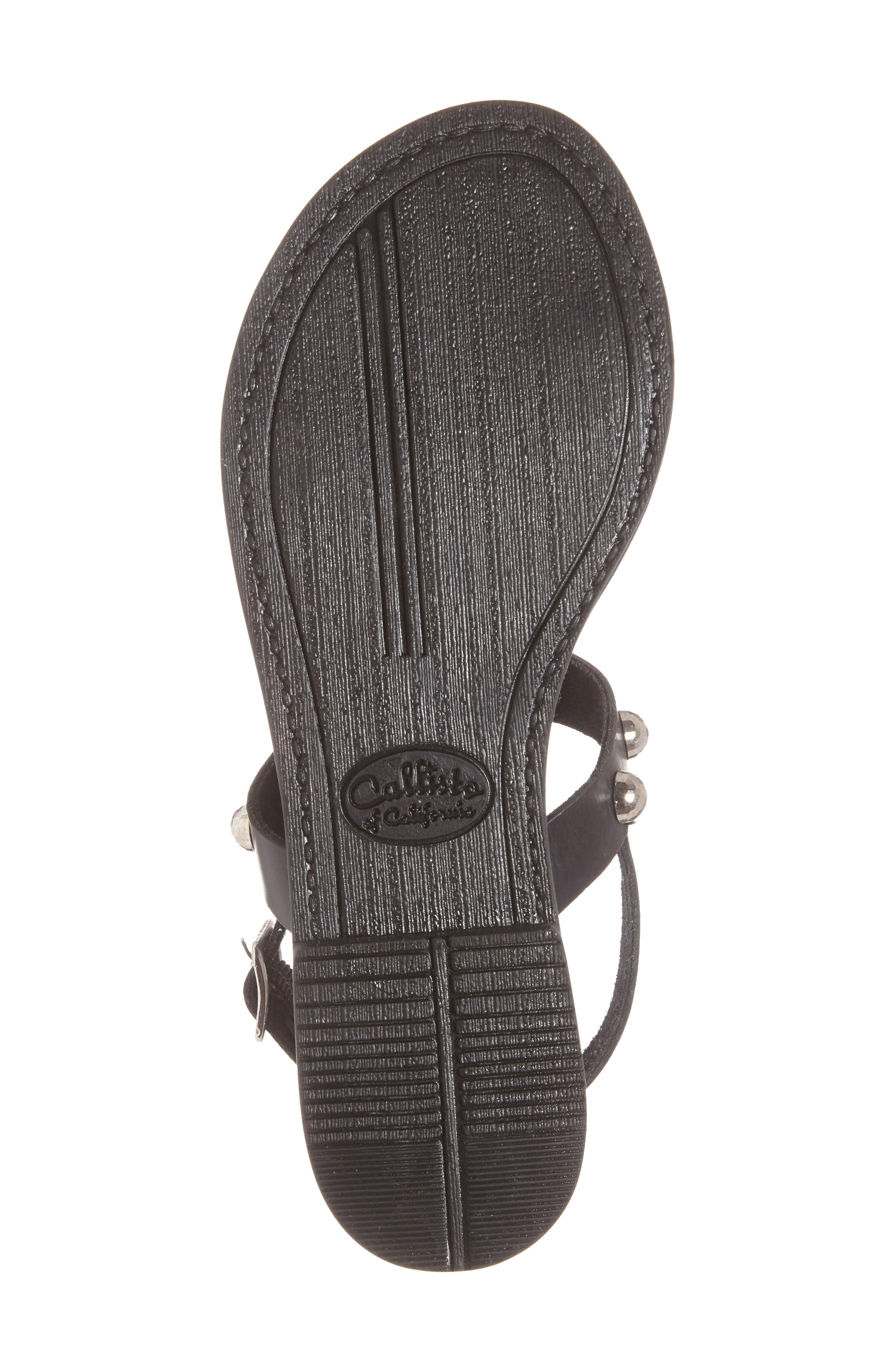 Bristol Sandal,                             Alternate thumbnail 6, color,                             Black Leather