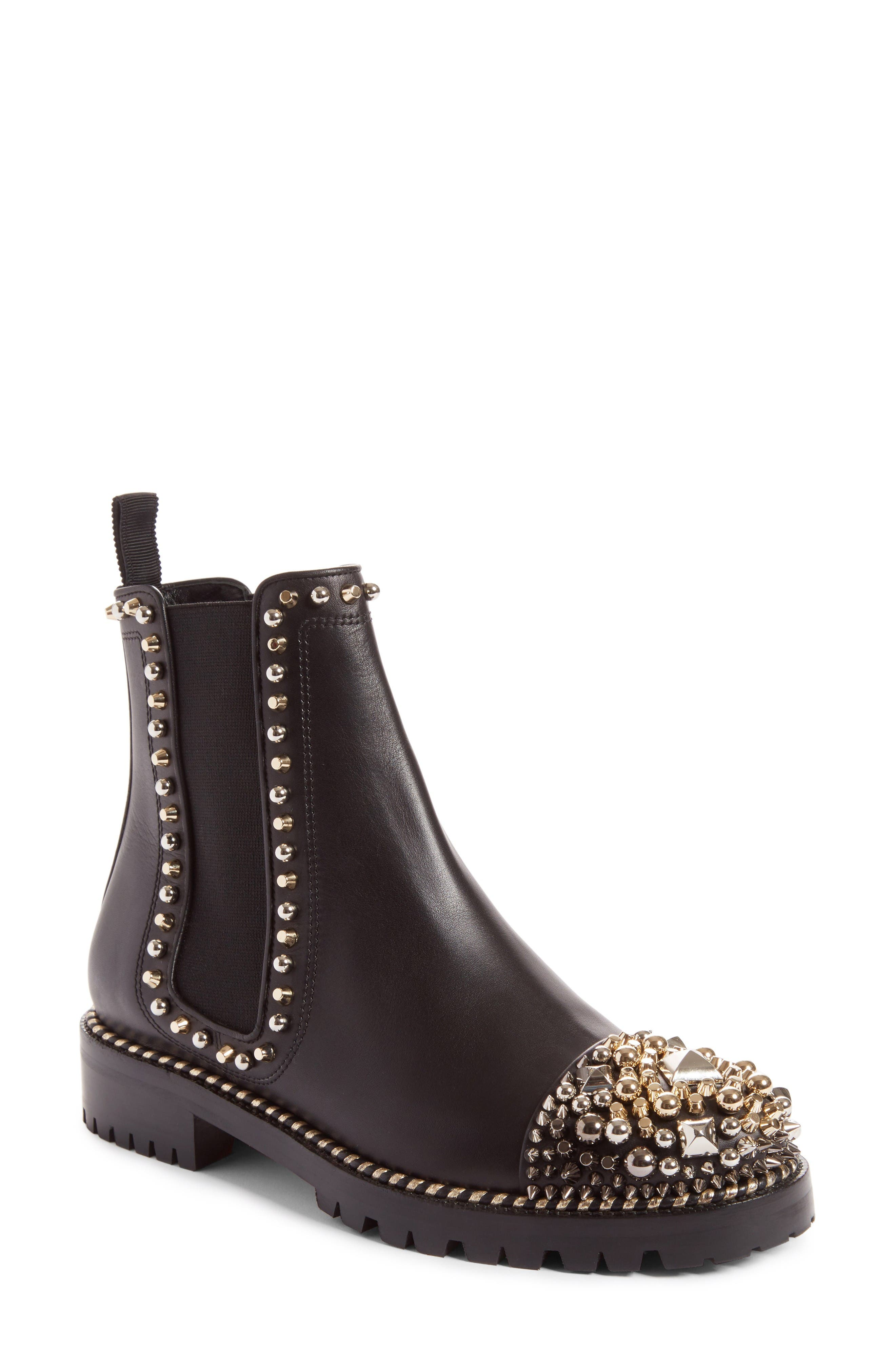 Christian Louboutin Chasse Stud Chelsea Boot (Women)