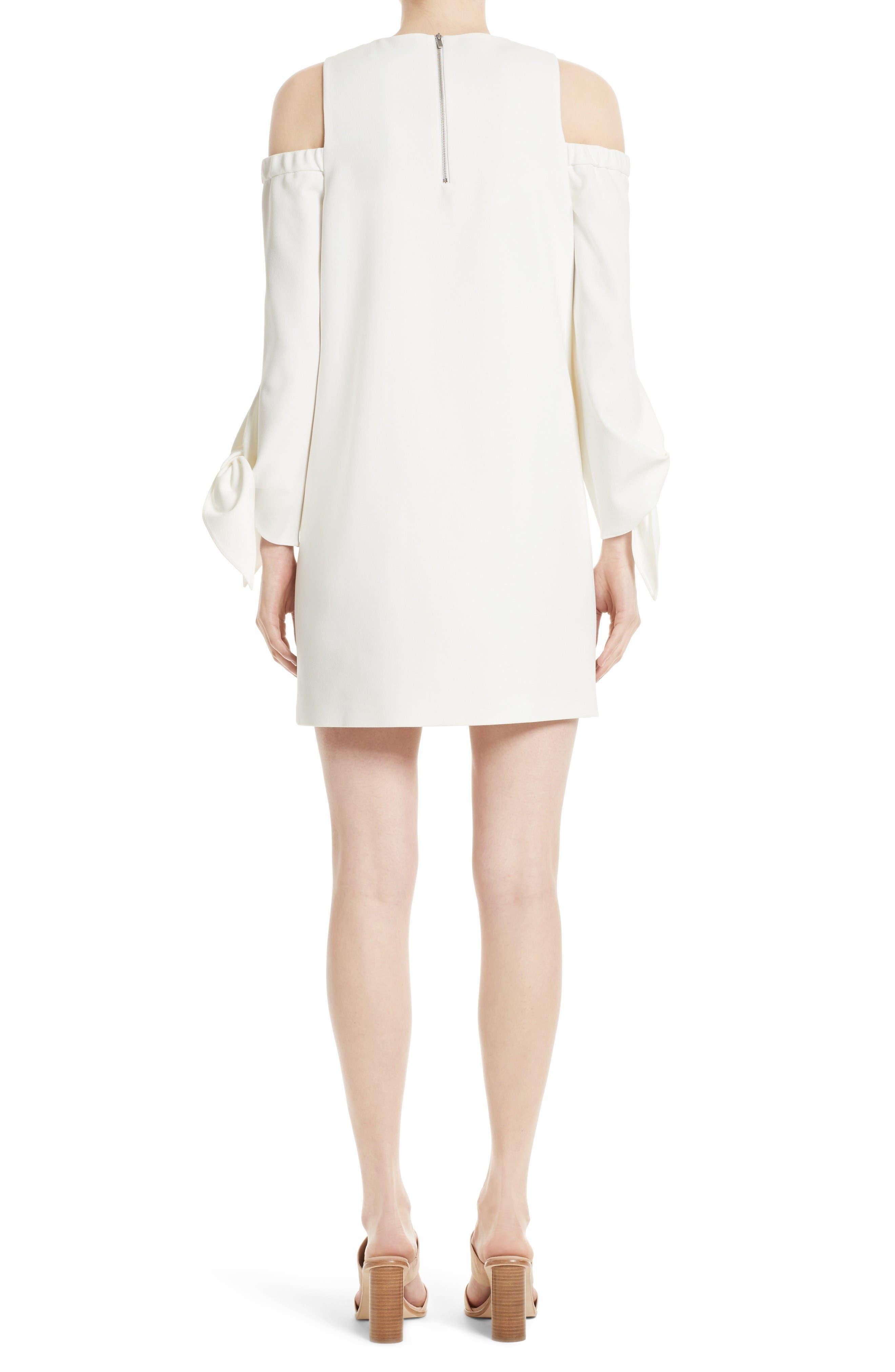 Cold Shoulder Shift Dress,                             Alternate thumbnail 2, color,                             Ivory