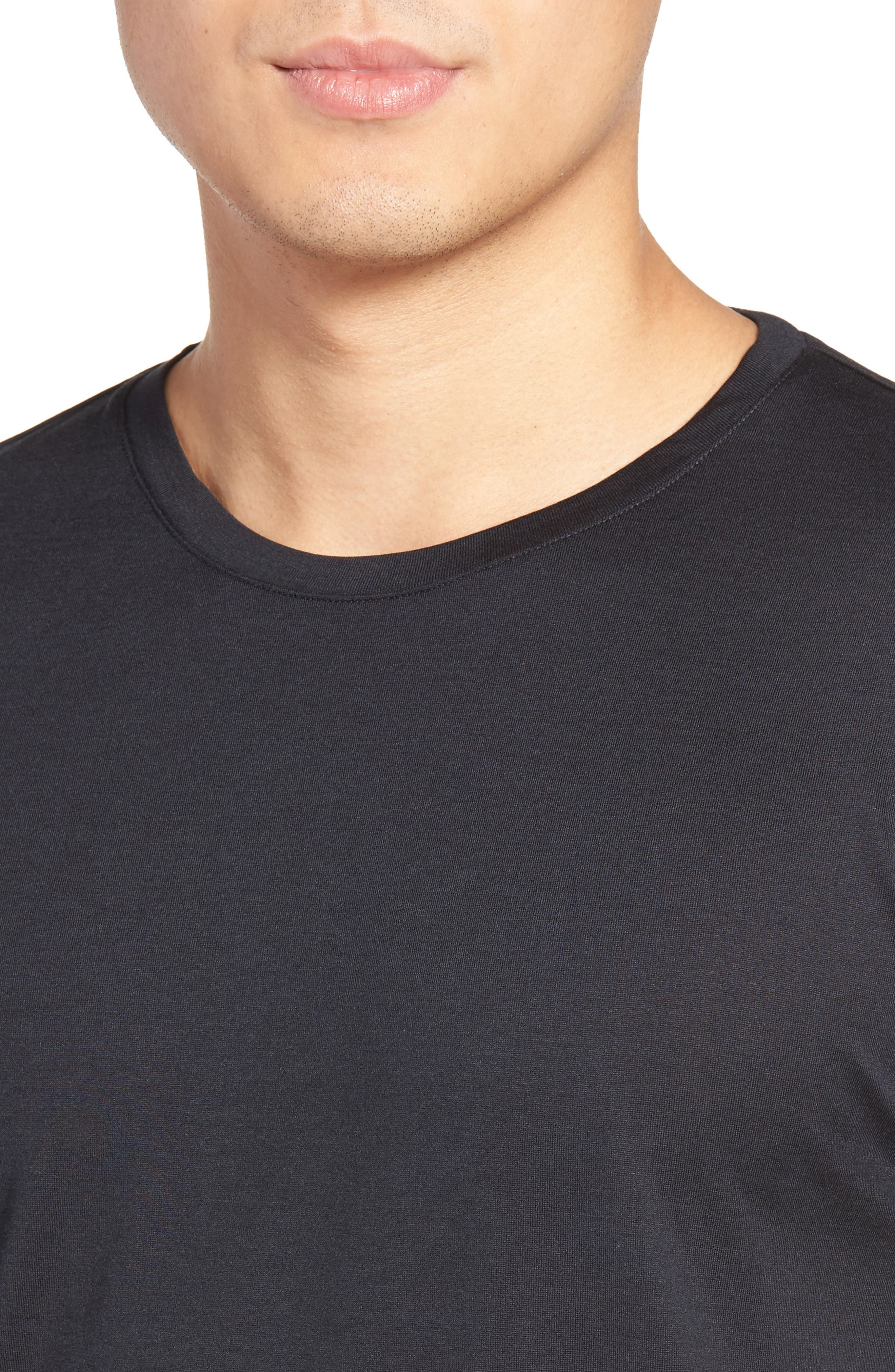 Alternate Image 4  - Theory Silk & Cotton Crewneck T-Shirt