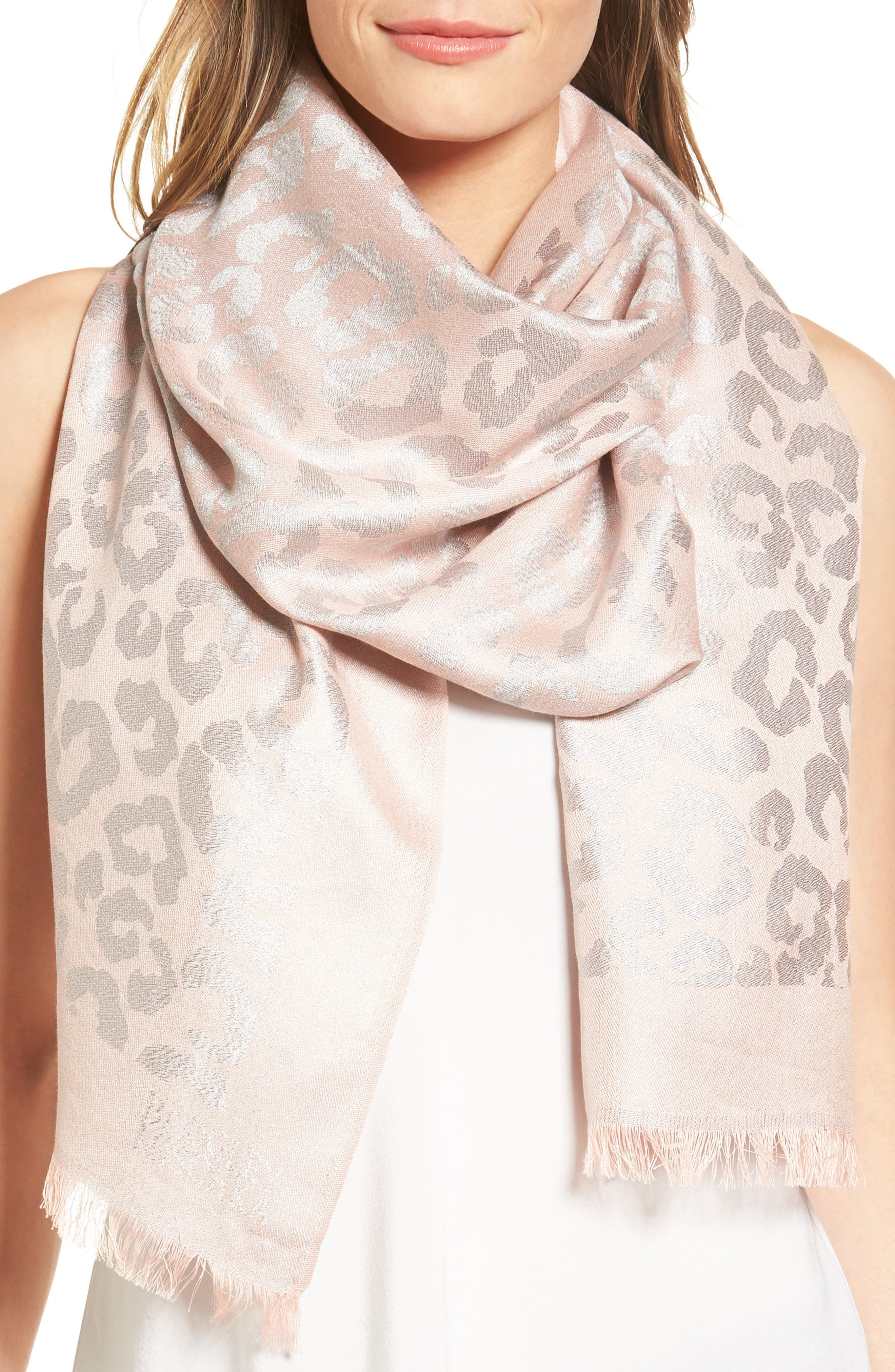 Alternate Image 1 Selected - Badgley Mischka Ocelot Jacquard Wrap