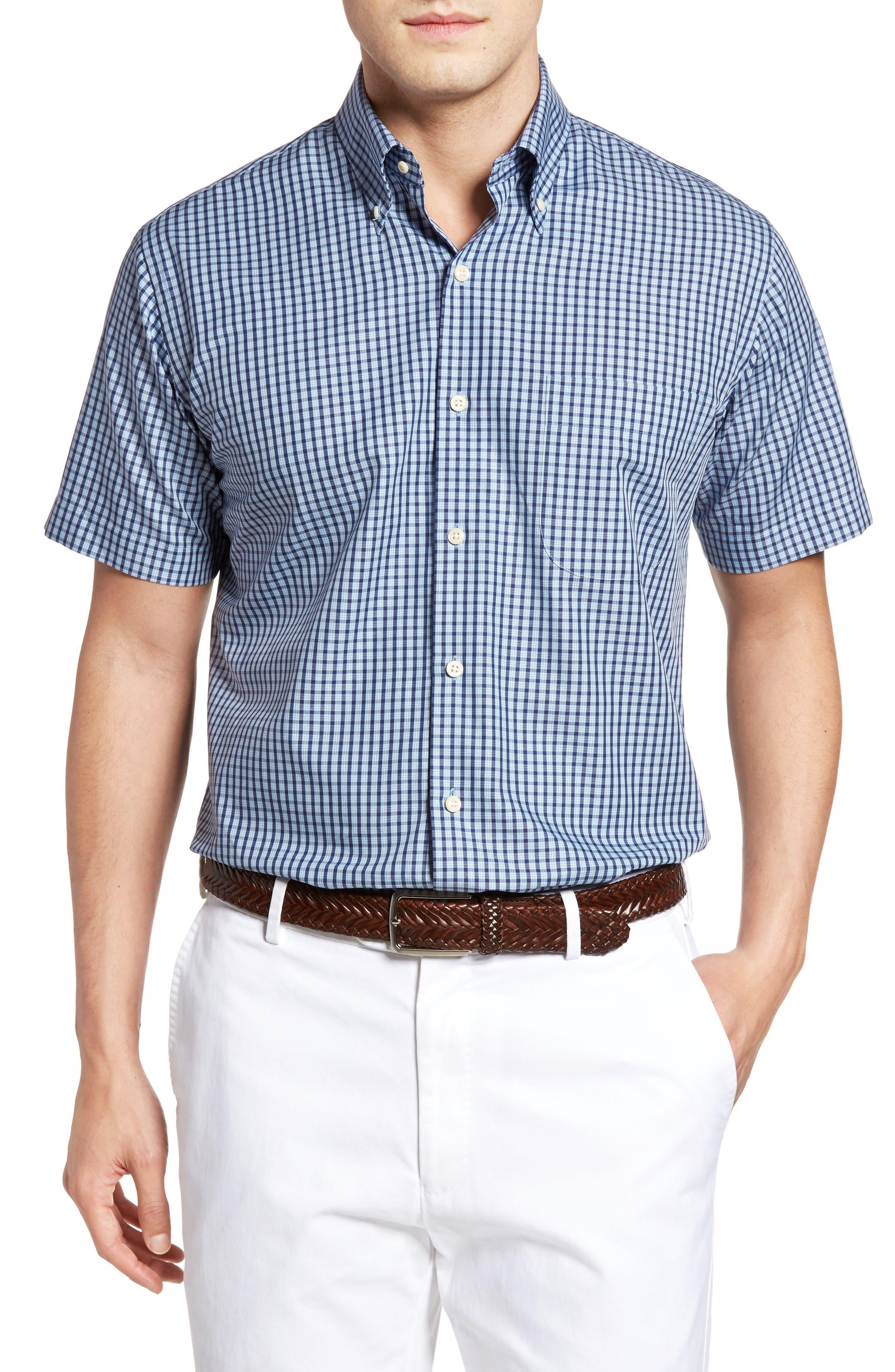PETER MILLAR Waimea Regular Fit Plaid Sport Shirt