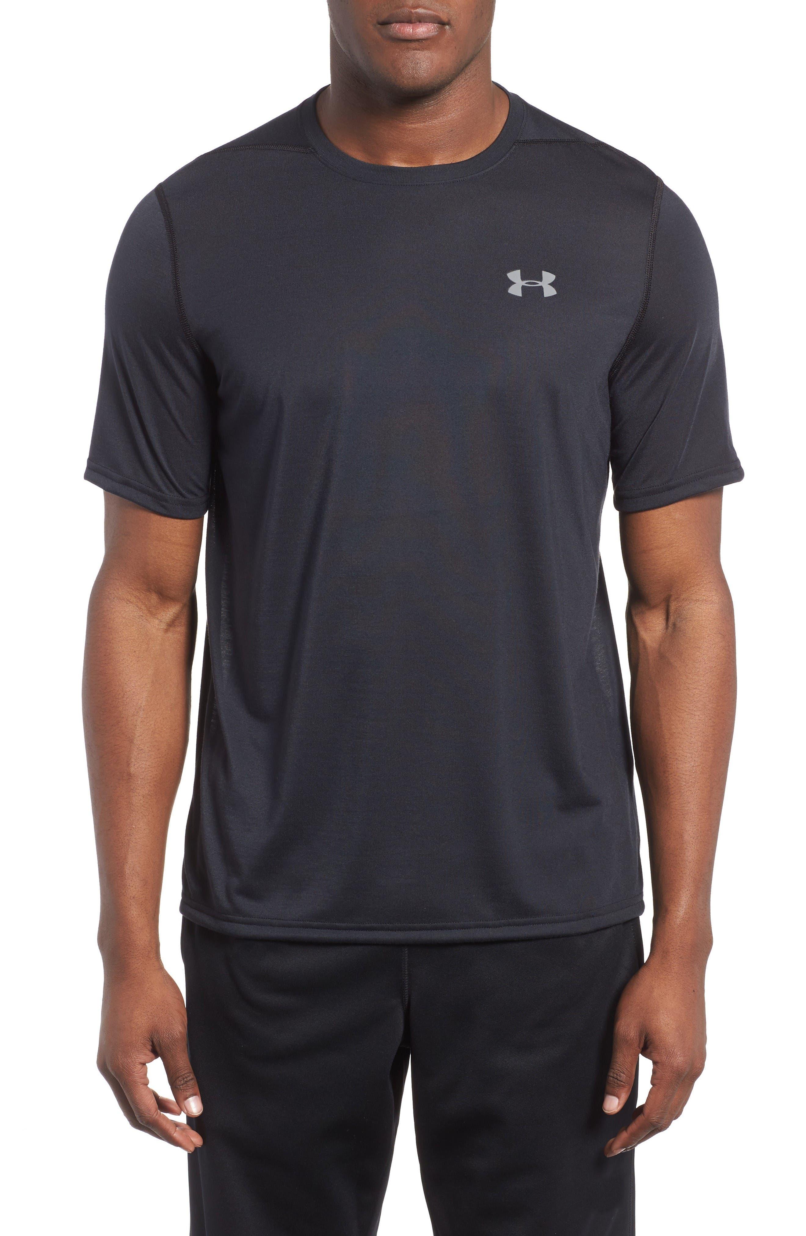 UNDER ARMOUR Regular Fit Threadborne T-Shirt in Black