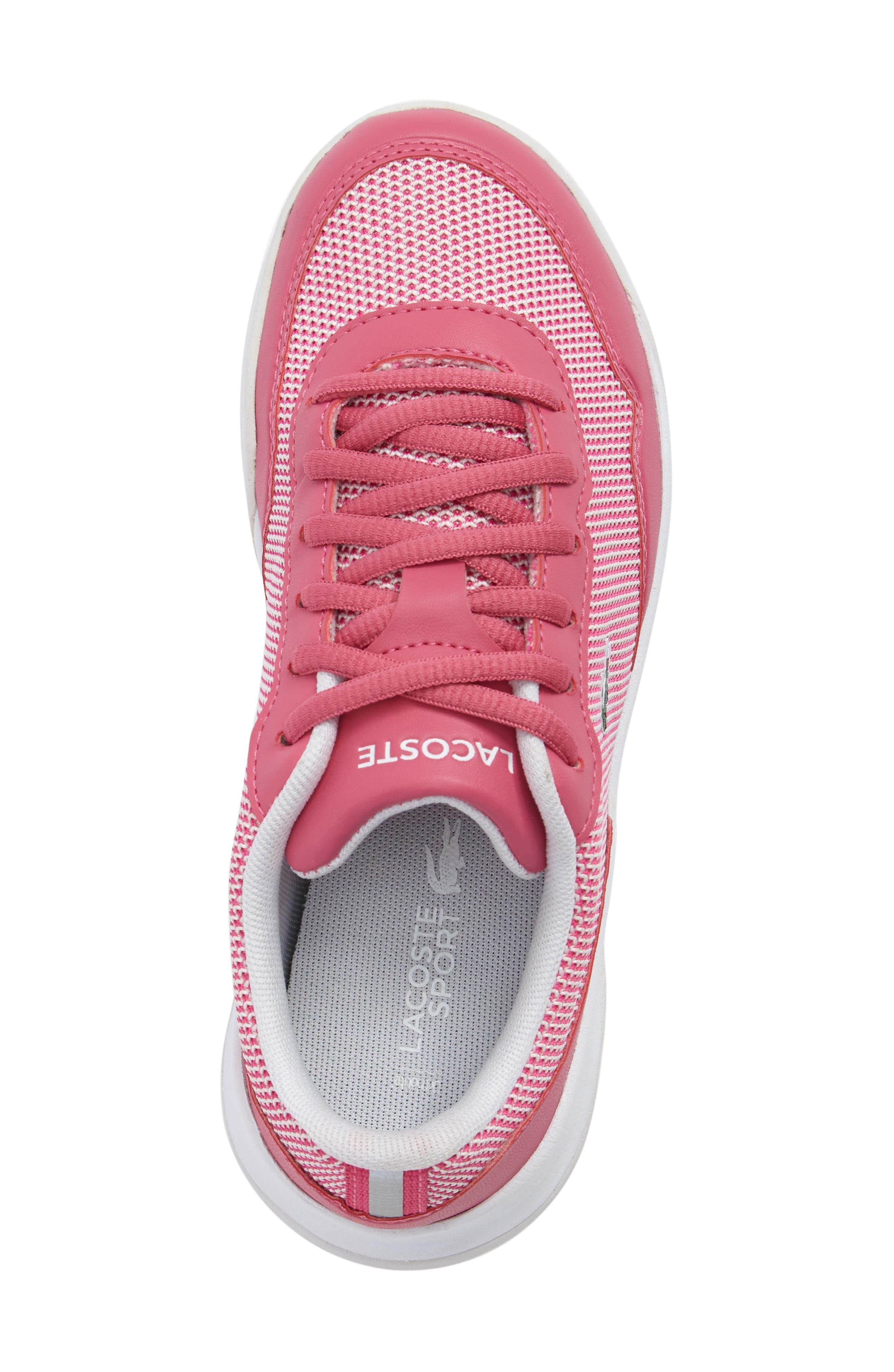 LT Spirit Woven Sneaker,                             Alternate thumbnail 5, color,                             Pink/ White