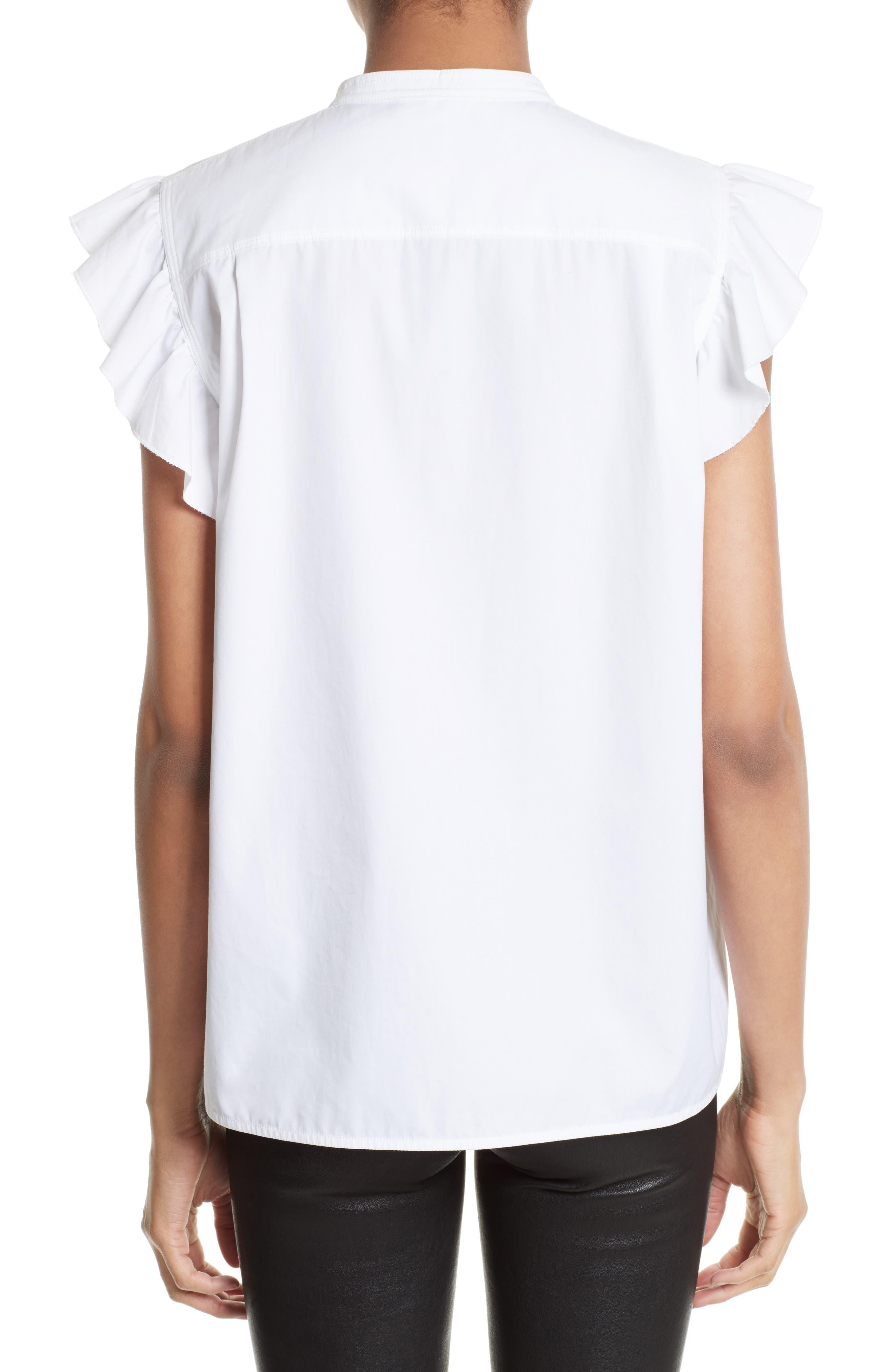 Alternate Image 3  - Helmut Lang Ruffle Bib Cotton Shirt