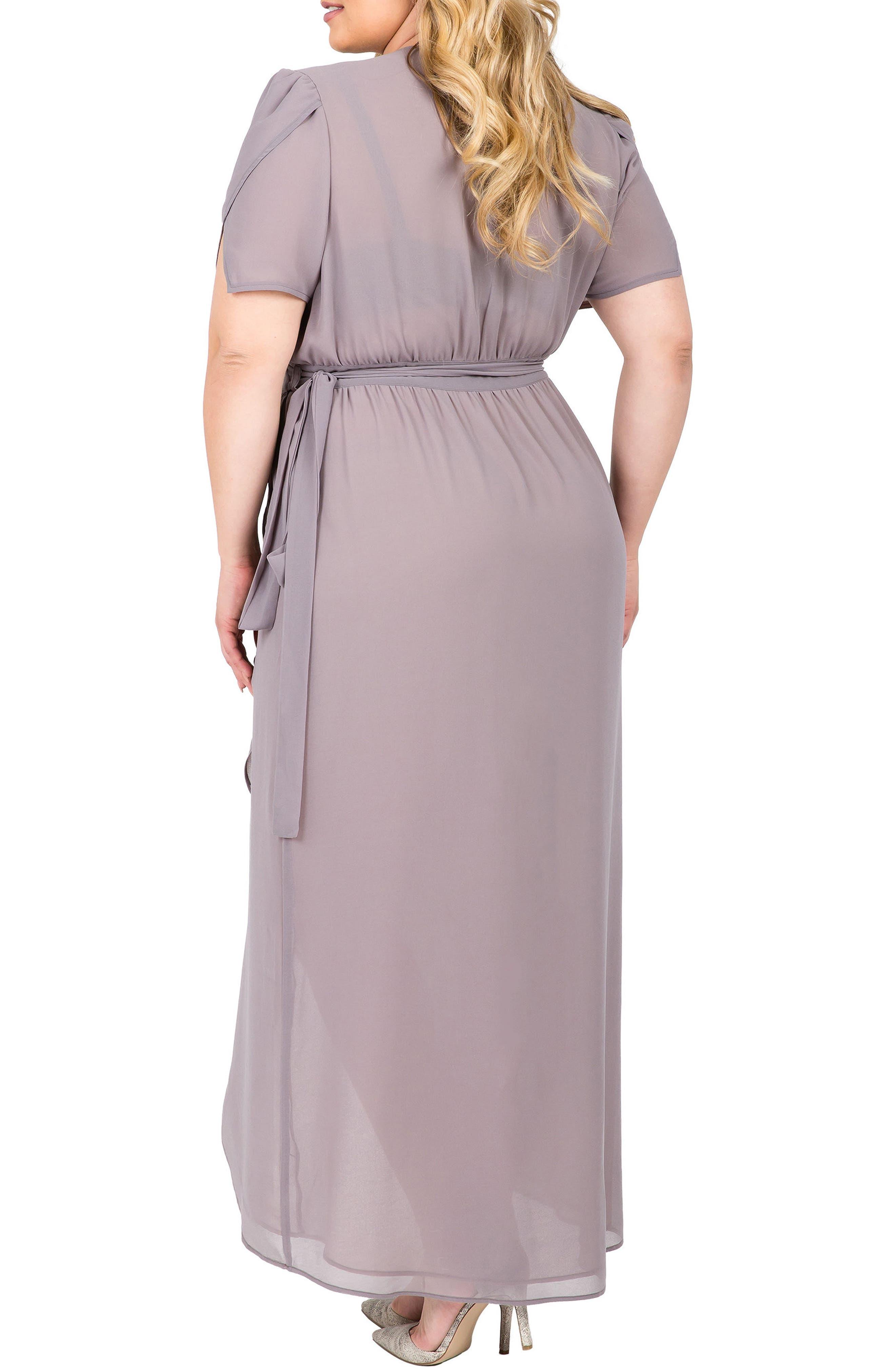 Robin Wrap Maxi Dress,                             Alternate thumbnail 2, color,                             Storm Grey