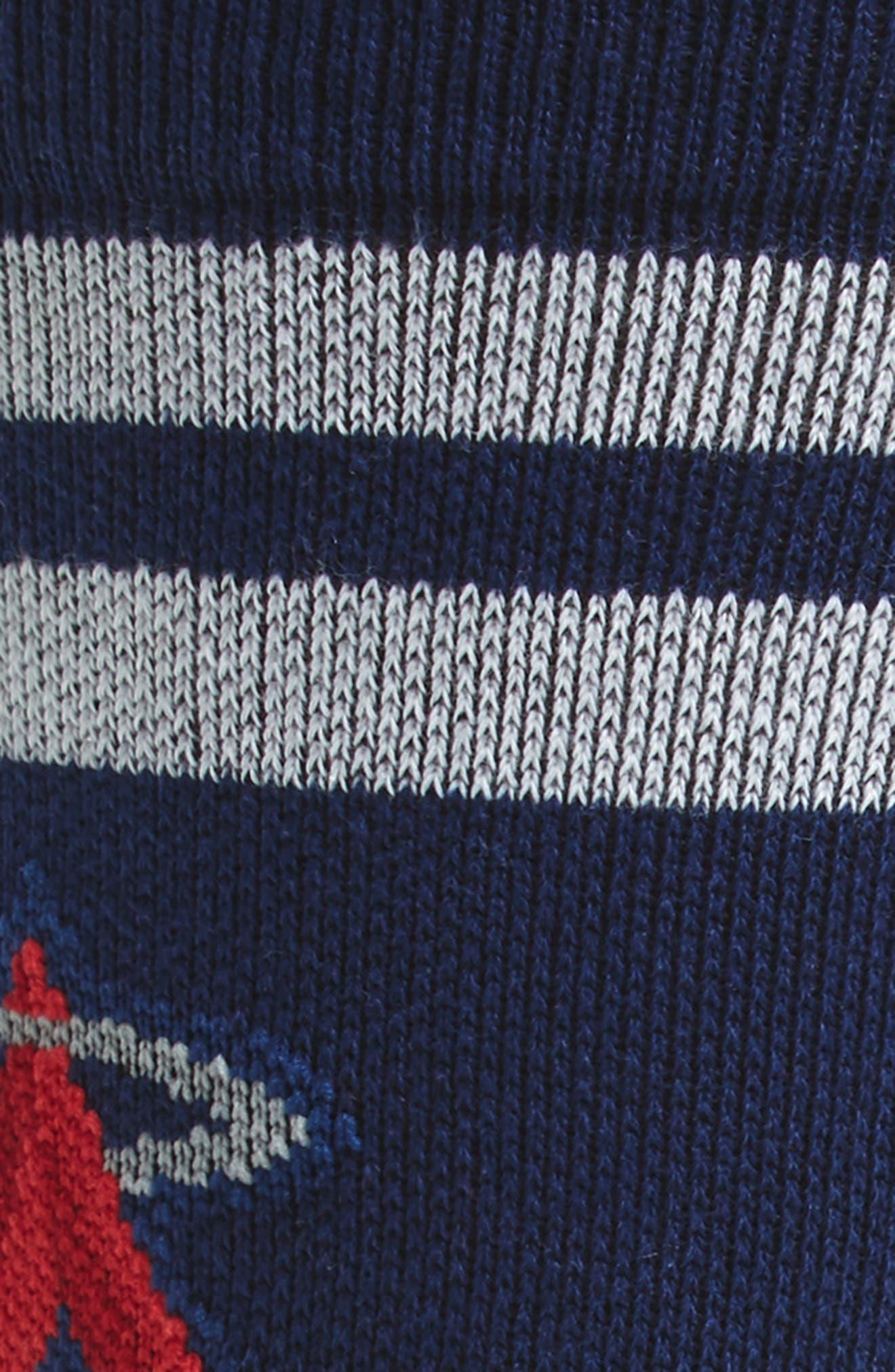 MLB Diamond Angels Socks,                             Alternate thumbnail 2, color,                             Navy/ Red