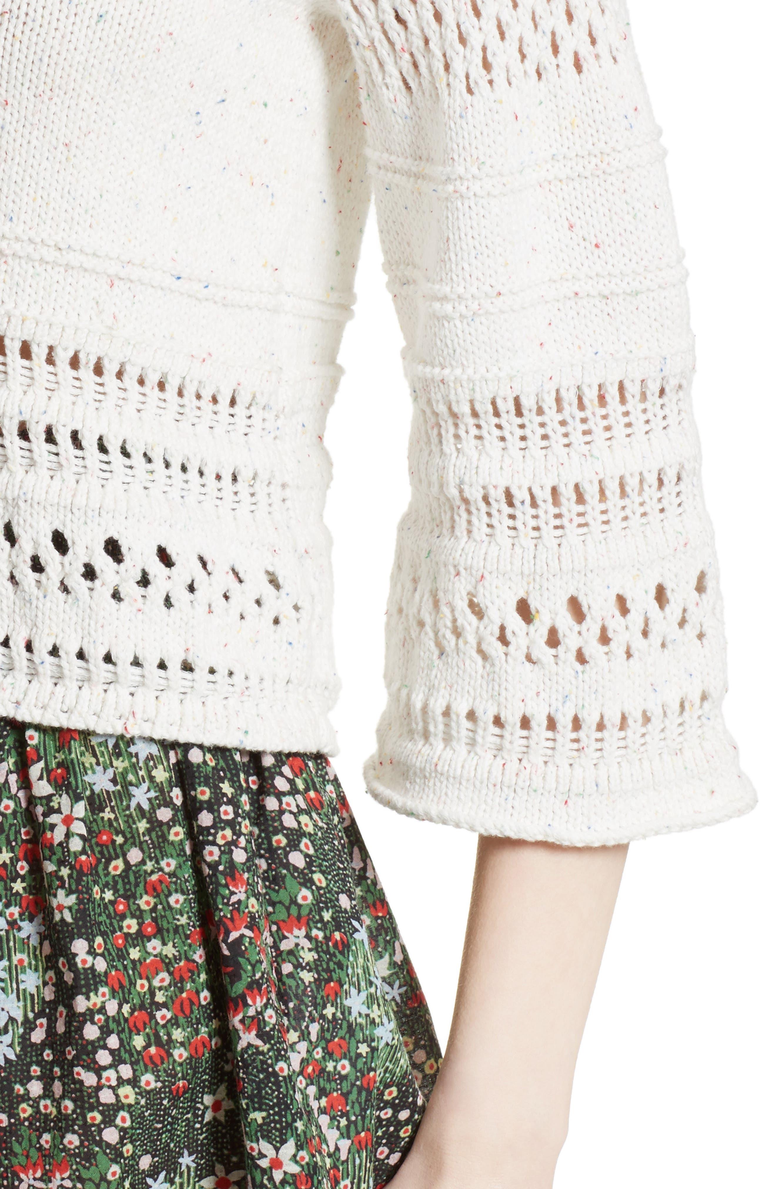 Alternate Image 4  - La Vie Rebecca Taylor Confetti Knit Pullover